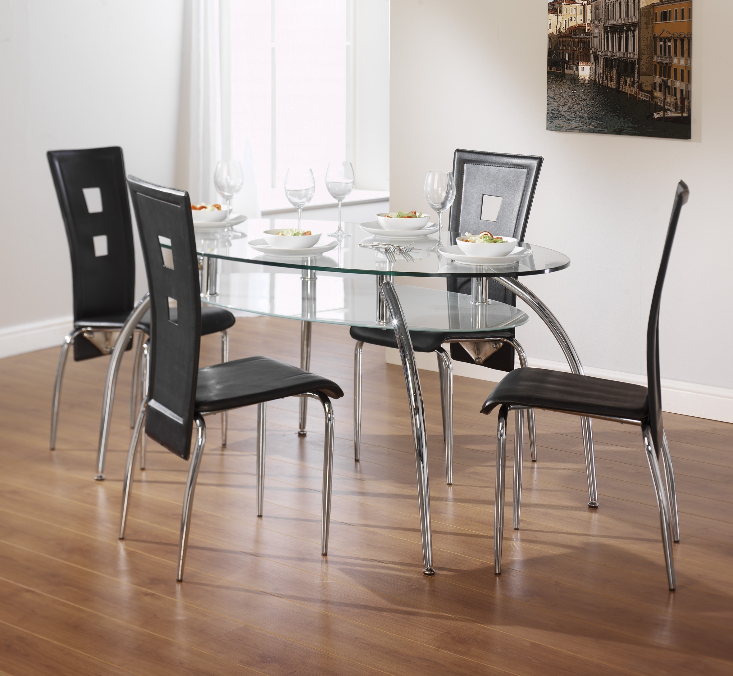Cheap Glass Dining Tables And 6 Chairs Pertaining To Popular Dining Tables At Aintree Liquidation Centre (Gallery 17 of 25)