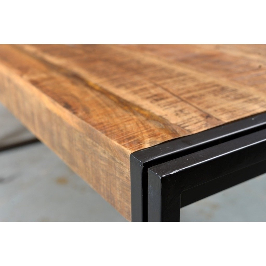 Cheap Reclaimed Wood Dining Tables Throughout Newest Shop Handmade Timbergirl Reclaimed Wood And Metal Dining Table (View 21 of 25)