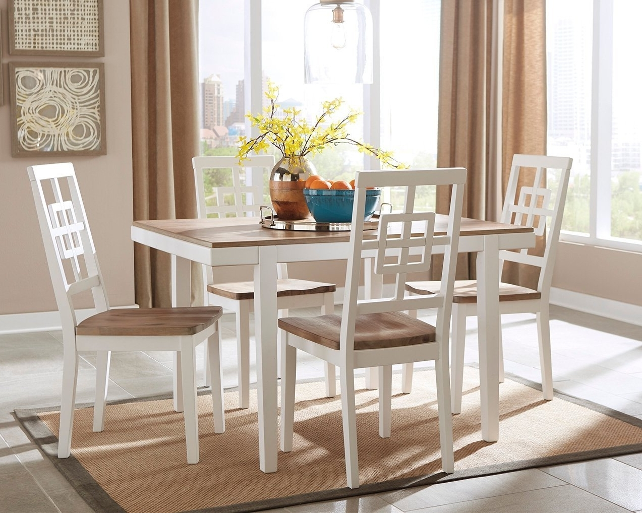 Cheap Two Tone Dining Set, Find Two Tone Dining Set Deals On Line At In Best And Newest Candice Ii 5 Piece Round Dining Sets With Slat Back Side Chairs (View 9 of 25)