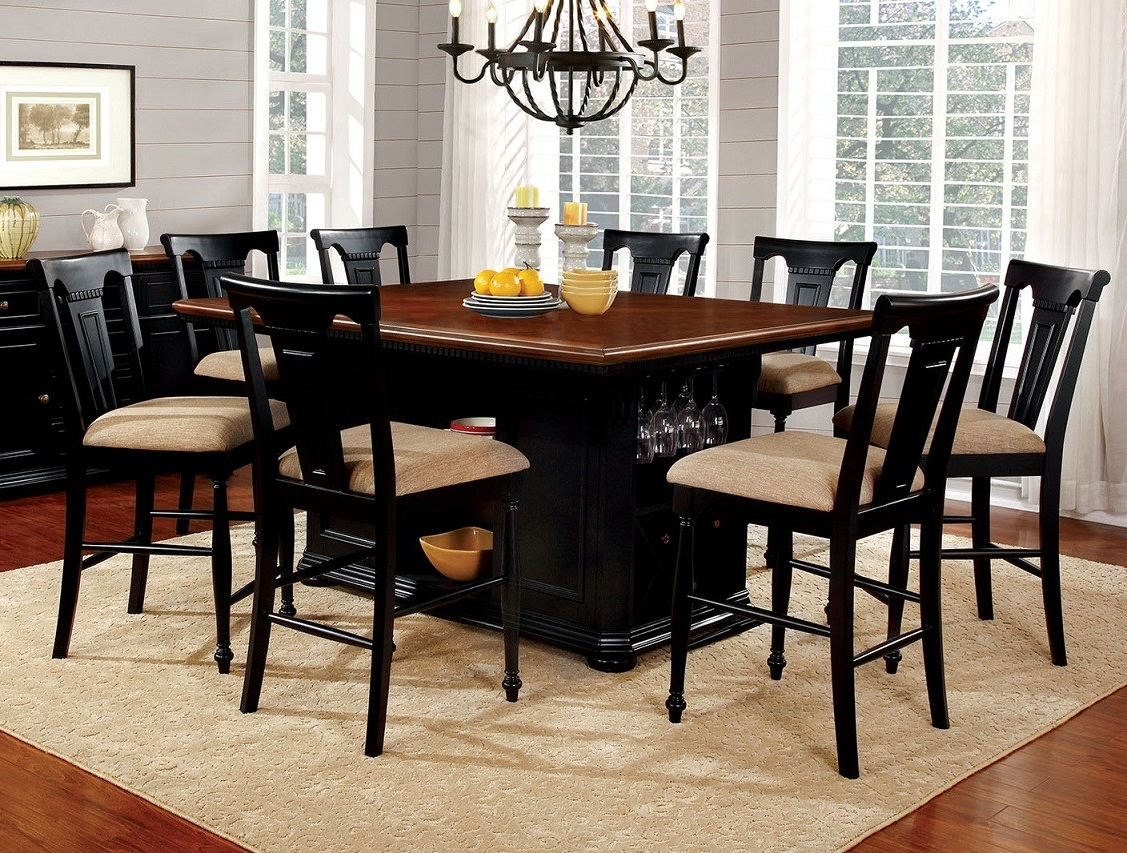 Cheery Caira Piece Extension Set Back Chairs Caira Piece Extension With Best And Newest Chapleau Ii 9 Piece Extension Dining Tables With Side Chairs (View 17 of 25)