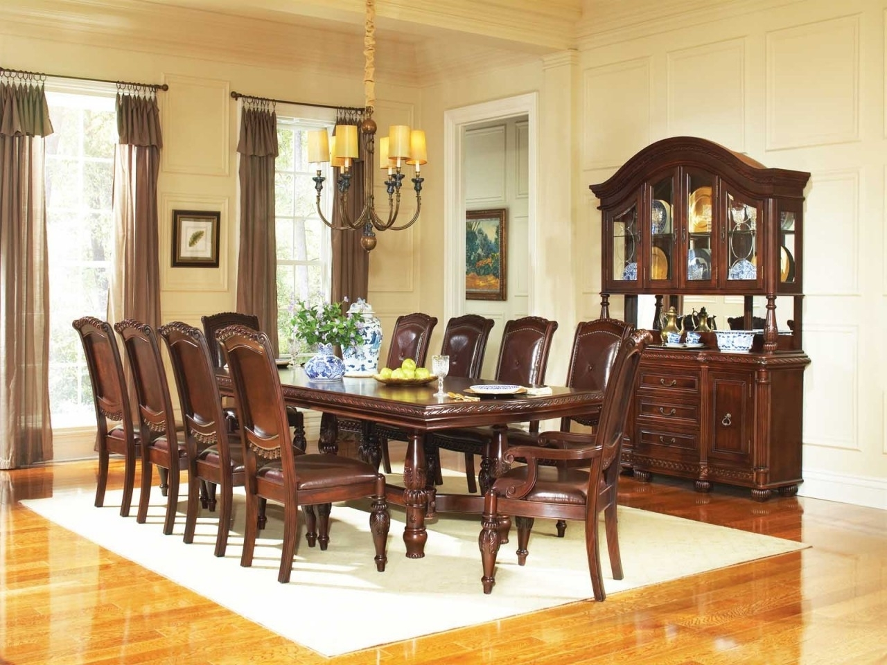 Cherry Dining Table Sets : Ugarelay – Some Tips On How To Get A Regarding 2017 Mahogany Dining Tables Sets (View 4 of 25)