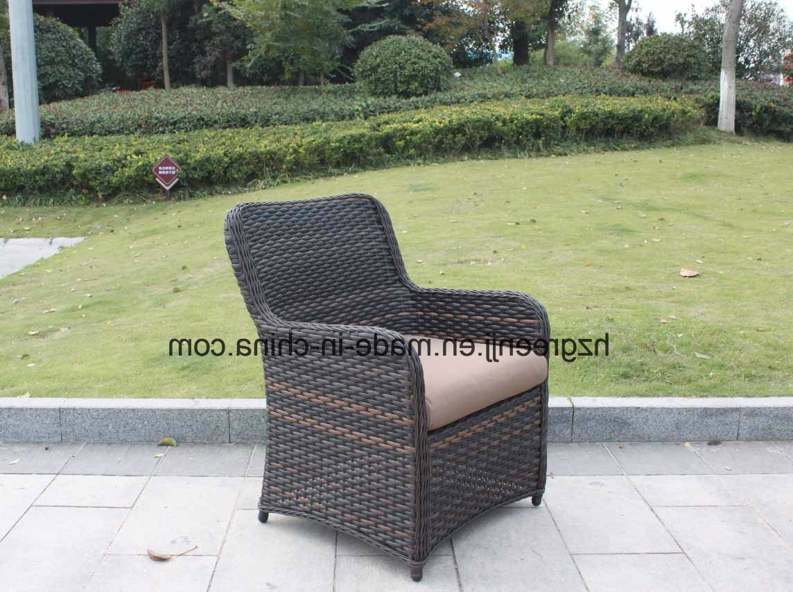 China Wicker Furniture Outdoor Dining Table Set With Rattan Chair In Widely Used Half Moon Dining Table Sets (View 5 of 25)
