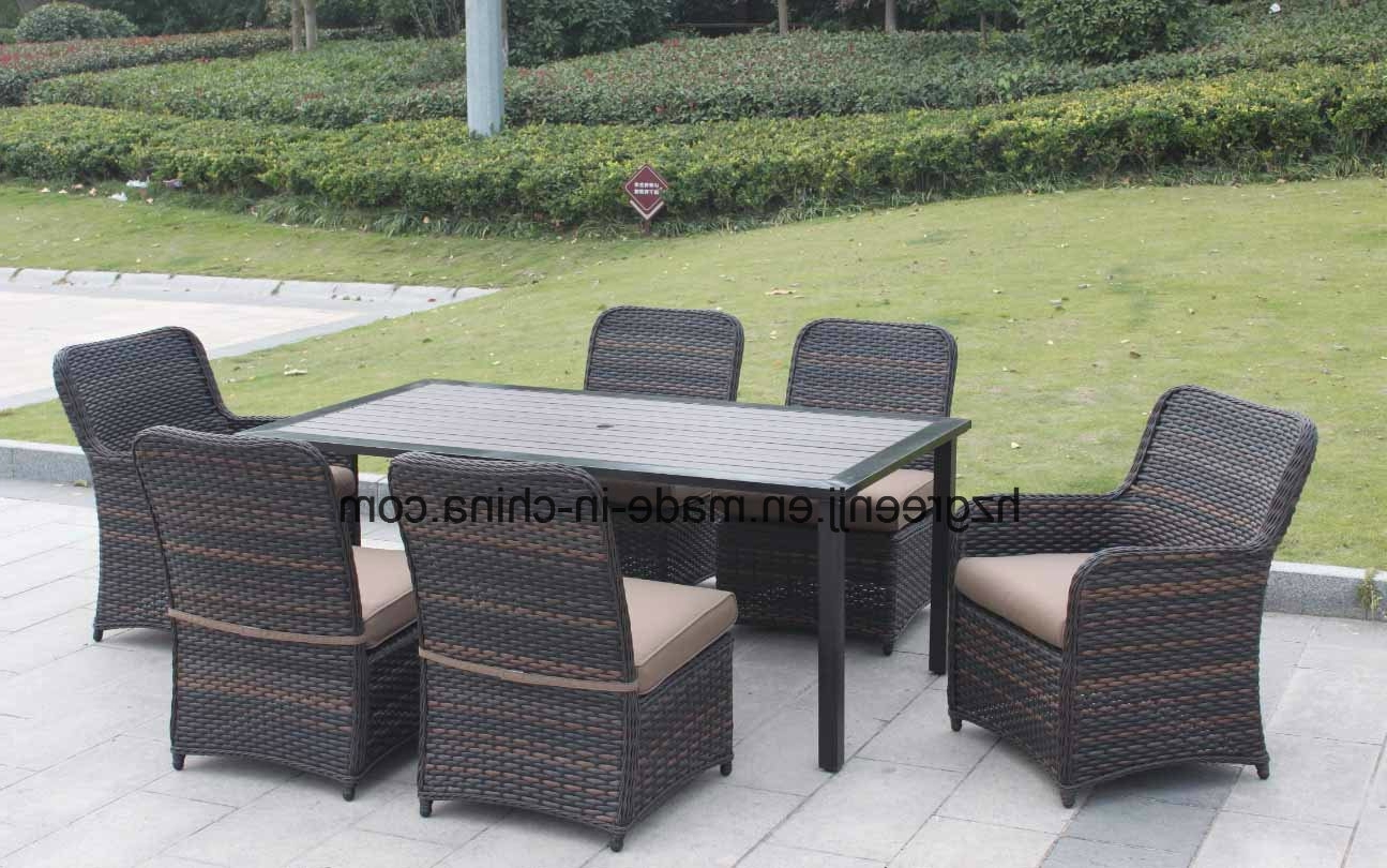 China Wicker Furniture Outdoor Dining Table Set With Rattan Chair Pertaining To Famous Round Half Moon Dining Tables (View 5 of 25)