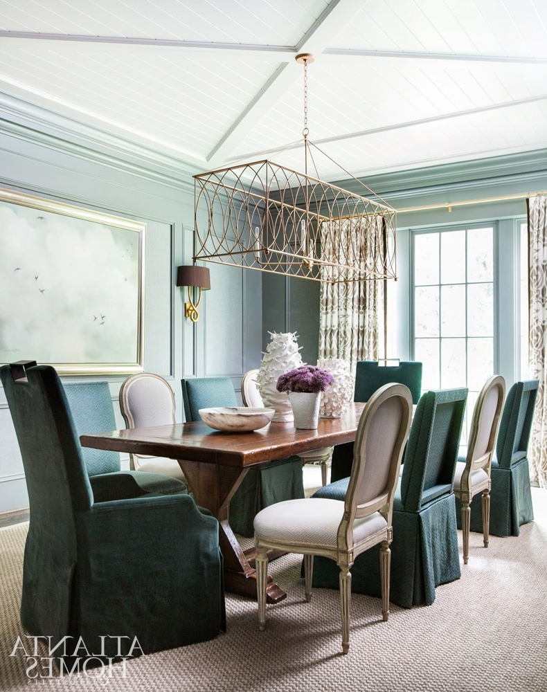 Choosing The Right Size And Shape Light Fixture For Your Dining Room Intended For Preferred Lamp Over Dining Tables (Gallery 19 of 25)