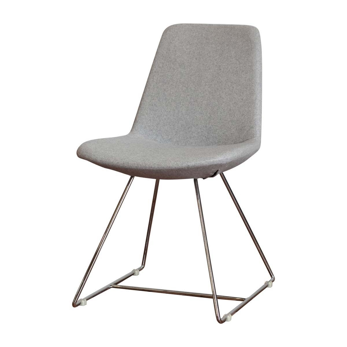 Chrome Dining Chairs With Current Life Interiors – Parker Chrome Dining Chair (Grey) – Modern Dining (Gallery 3 of 25)