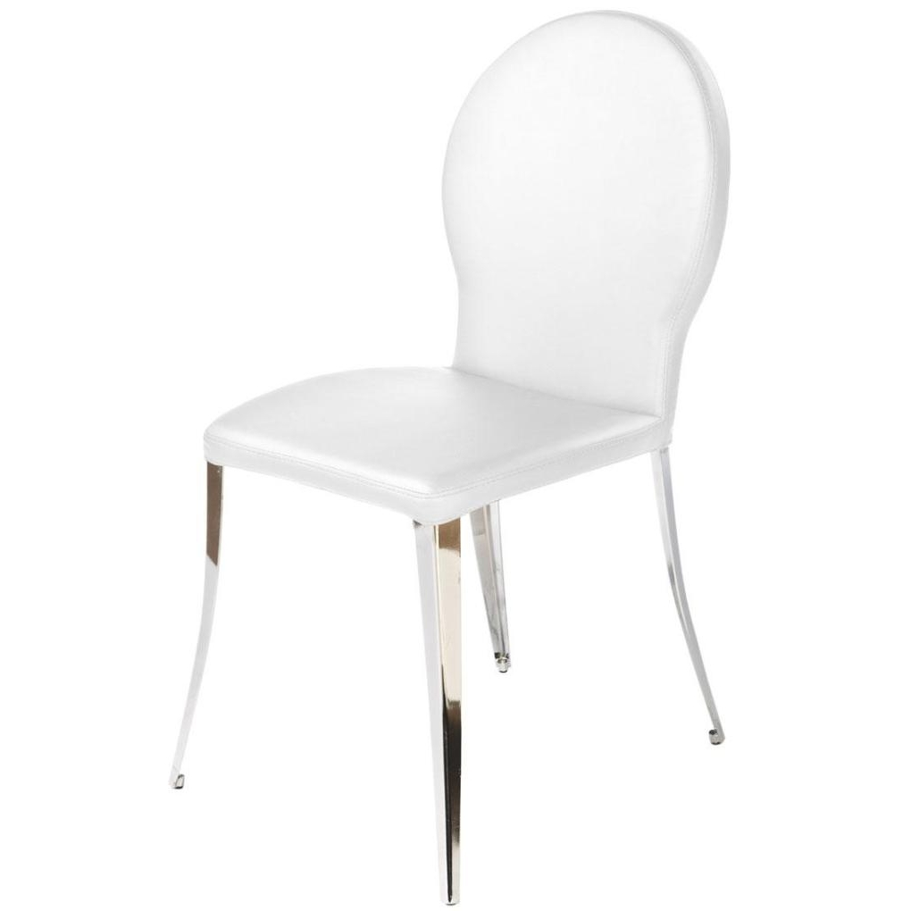 Chrome Dining Chairs Within Newest Farid Dining Chair White Fabric Chrome Dining Chairs High End Dining (Gallery 6 of 25)