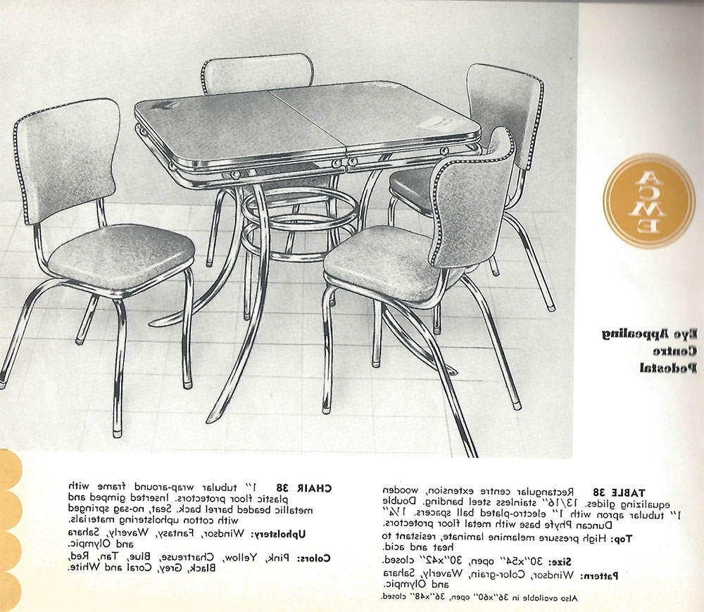 Chrome Dining Room Sets With Widely Used Still In Production After Nearly 70 Years: Acme Chrome Dinettes Made (Gallery 18 of 25)
