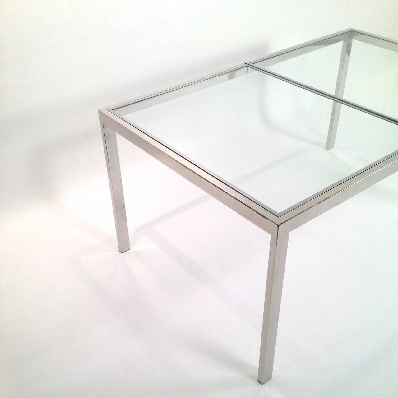 Chrome Dining Tables Intended For Popular Milo Baughman Chrome And Glass Dining Table At 1Stdibs (View 9 of 25)
