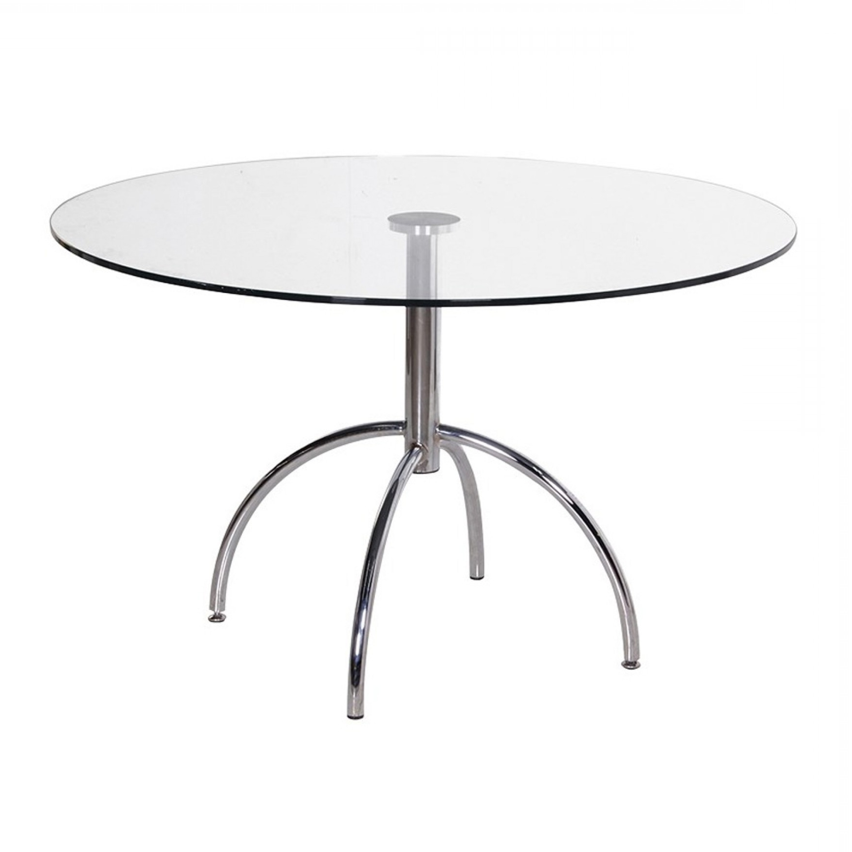 Chrome Glass Dining Tables Inside Famous Round Chrome/glass Dining Table (Gallery 25 of 25)