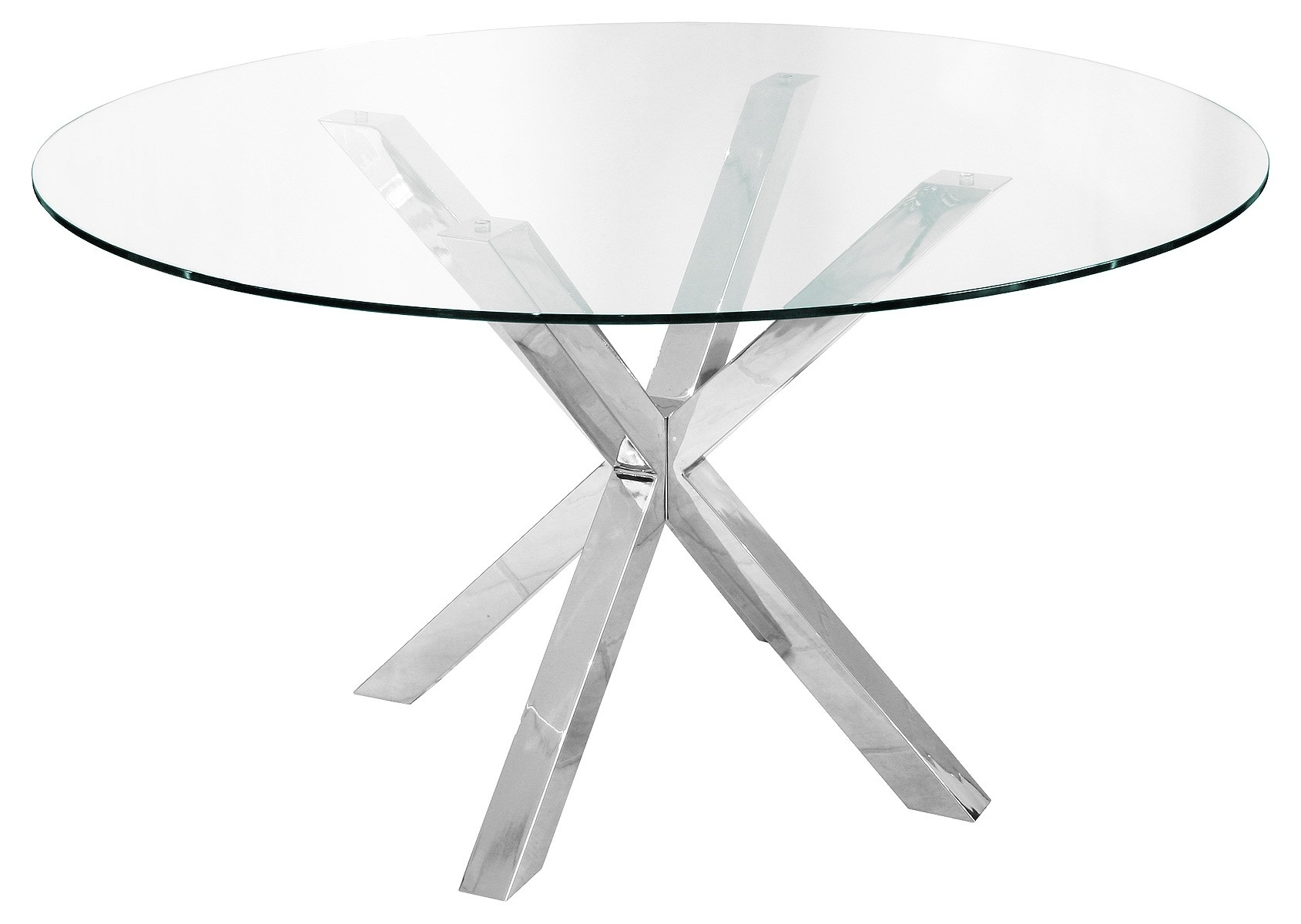 Chrome Glass Dining Tables Regarding Most Current Crossly Round Dining Table – Be Fabulous! (View 13 of 25)