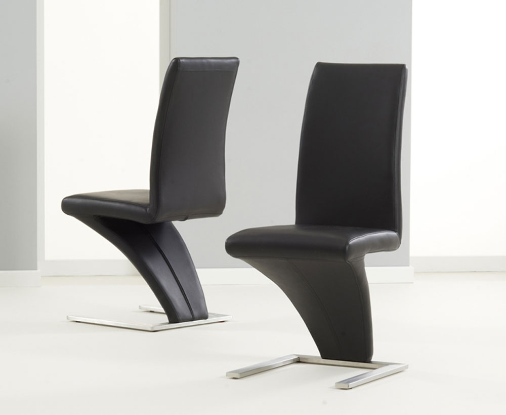 Chrome Leather Dining Chairs For Most Popular Pair Of Black Hereford Pu Leather & Chrome Z Dining Chairs (View 7 of 25)