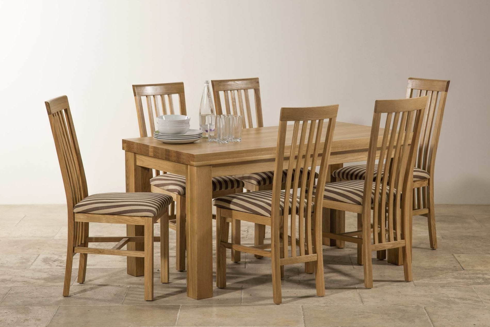 Chunky Solid Oak Dining Tables And 6 Chairs With Trendy Stunning Chunky Solid Oak Dining Table And 6 Chairs For Contemporary (View 4 of 25)