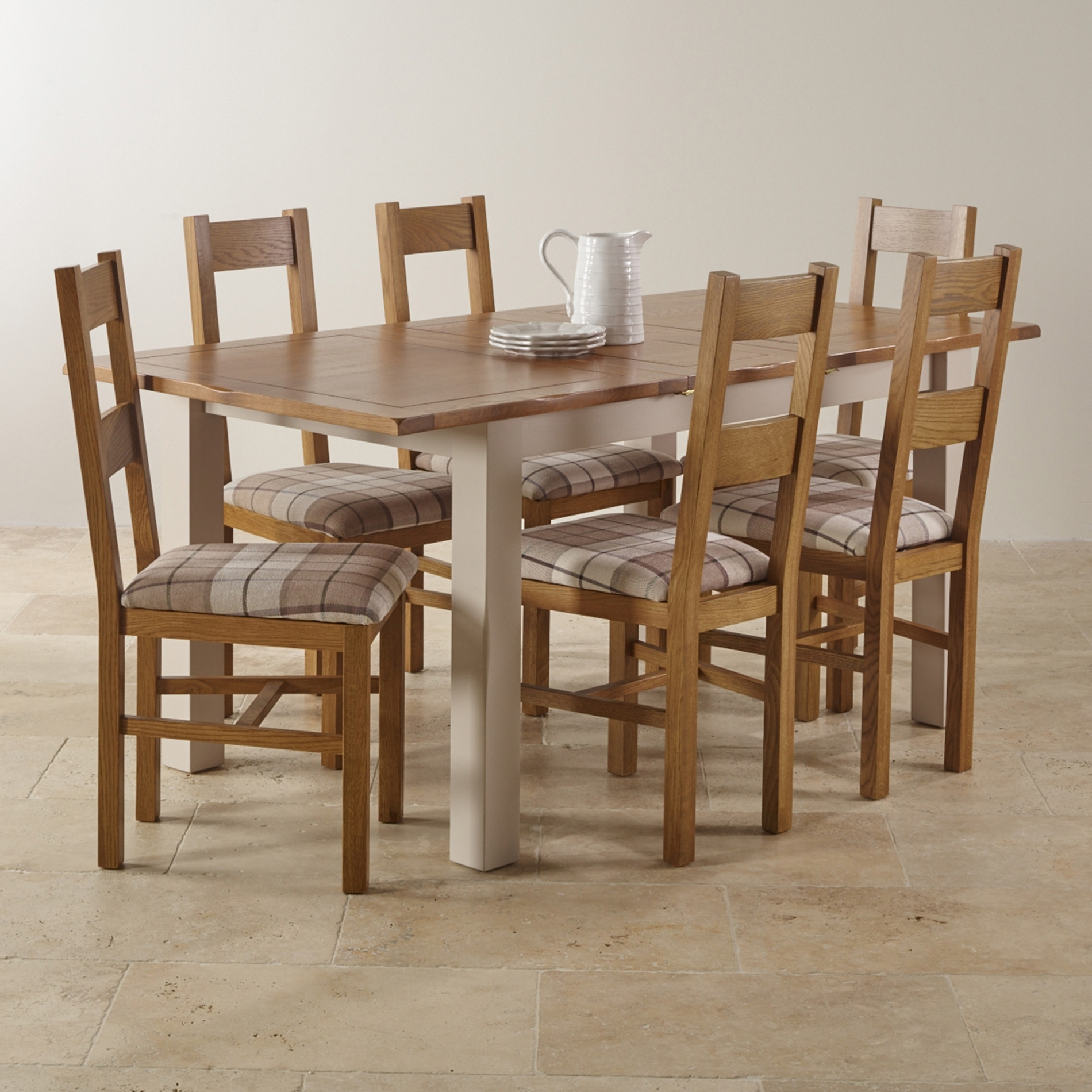 Chunky Solid Oak Dining Tables And 6 Chairs Within Most Recently Released Large Glass Set Grey Seats Gold Rattan Folding Small Room Chairs (View 9 of 25)