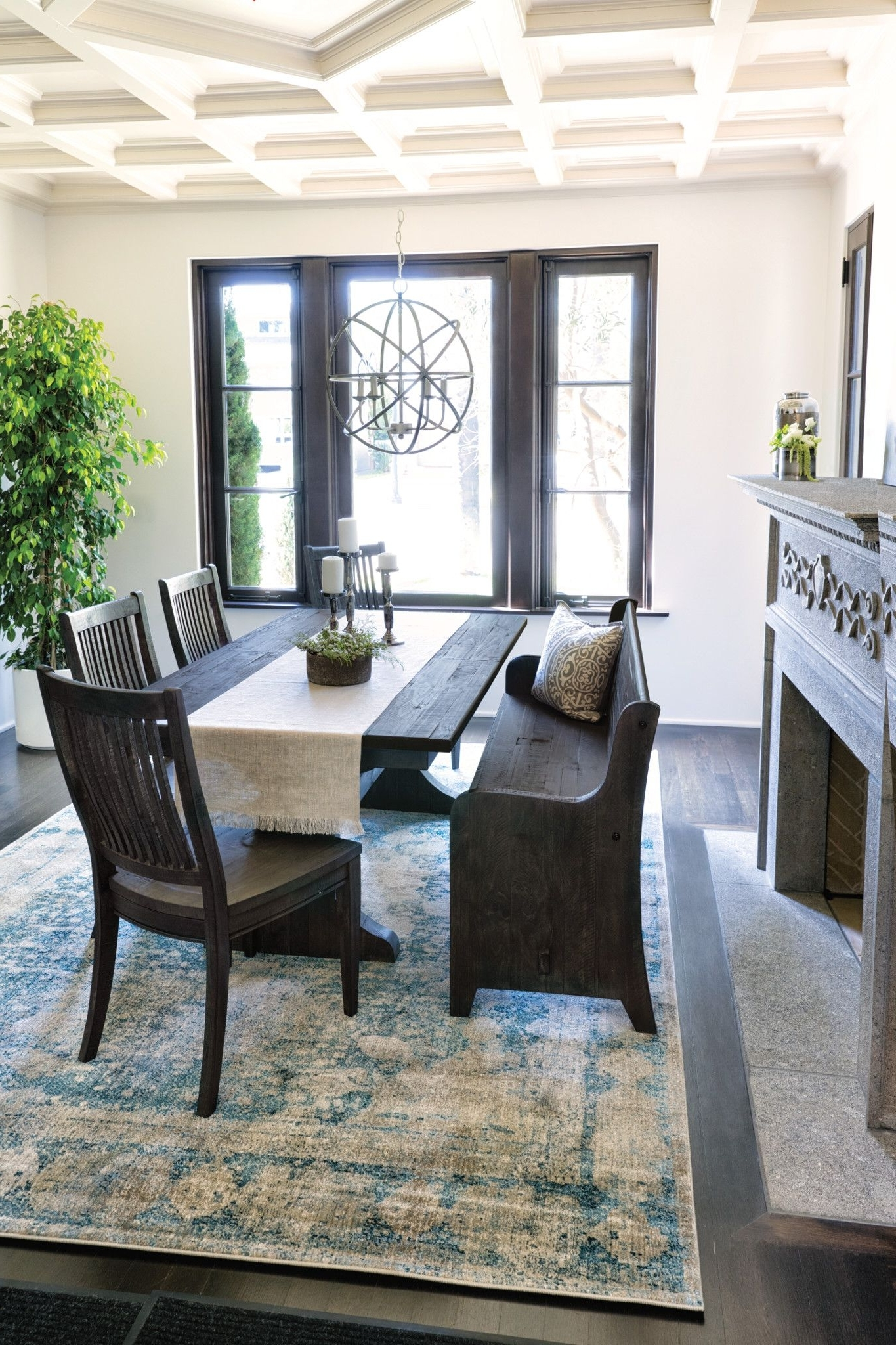 Church Pew Bench Throughout Recent Valencia 72 Inch 7 Piece Dining Sets (View 3 of 25)