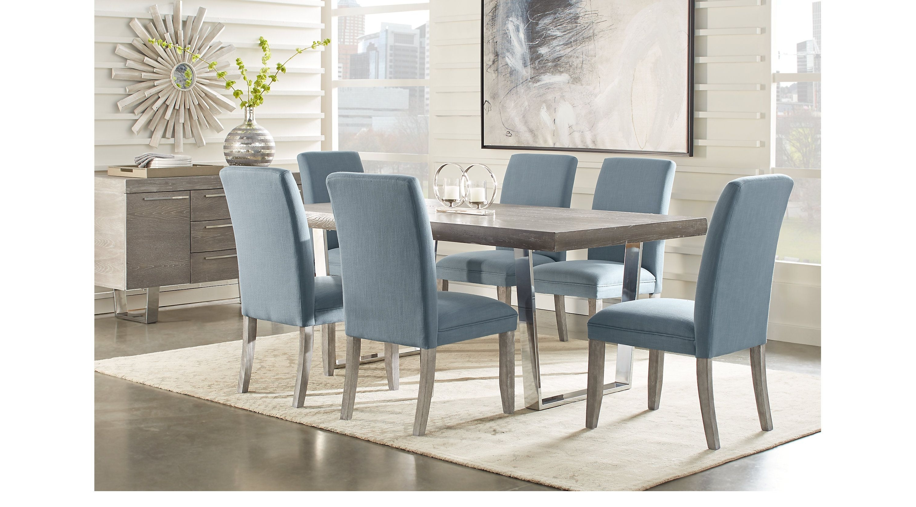 Cindy Crawford Home San Francisco Gray 5 Pc Dining Room (View 8 of 25)