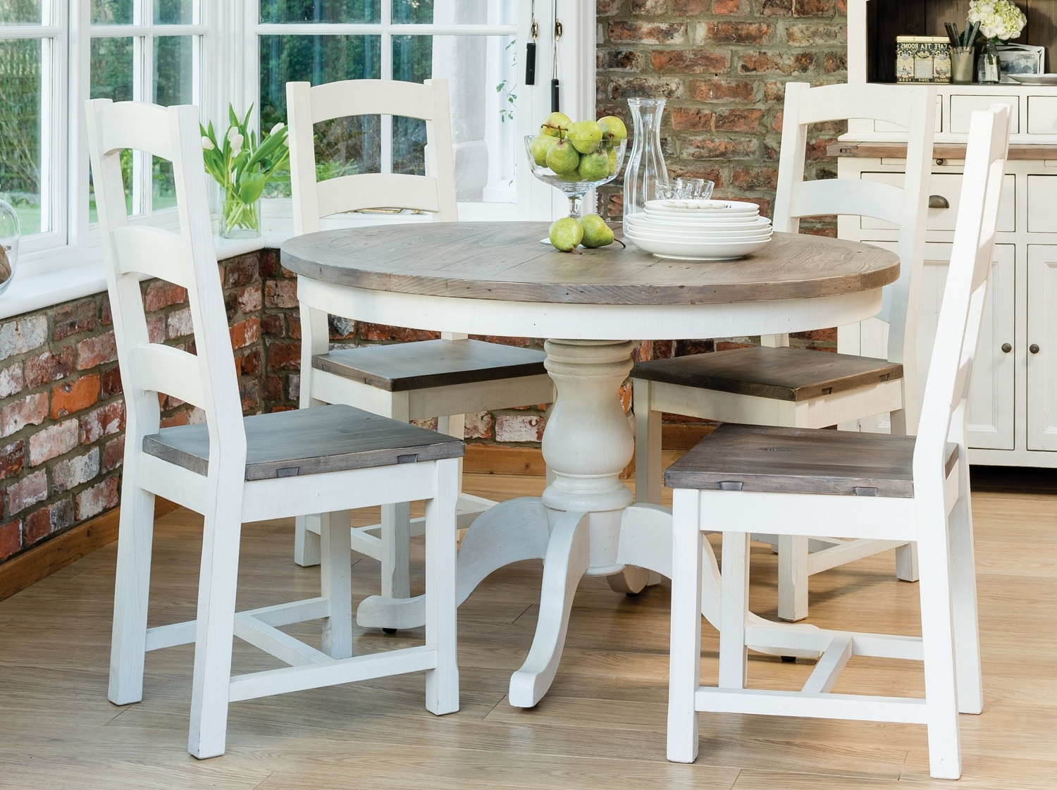 Circular Dining Tables For Latest French Country Round Dining Table From Dansk (View 4 of 25)