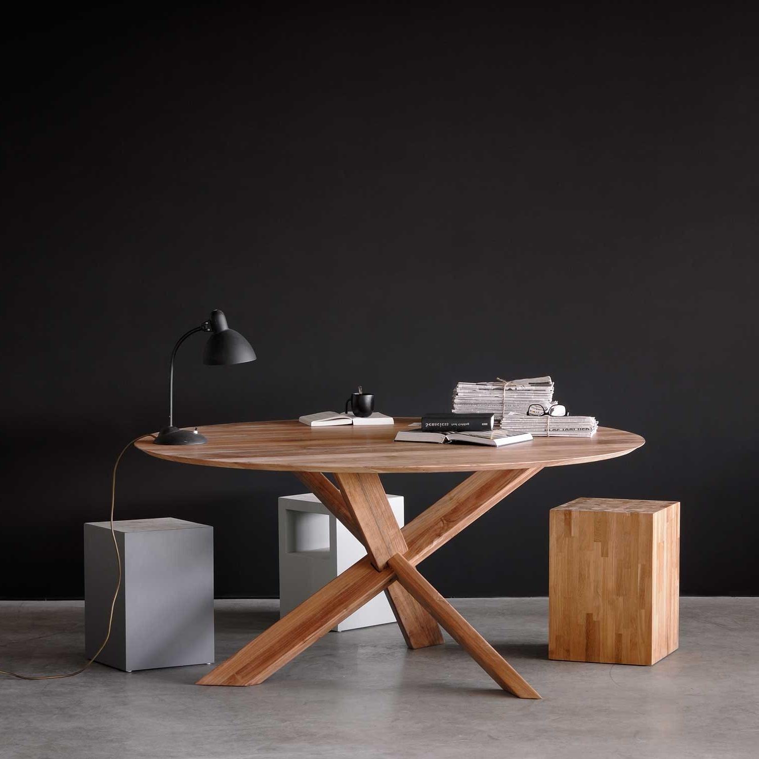 Circular Dining Tables For Well Known Teak Circle Dining Tableethnicraft (View 5 of 25)