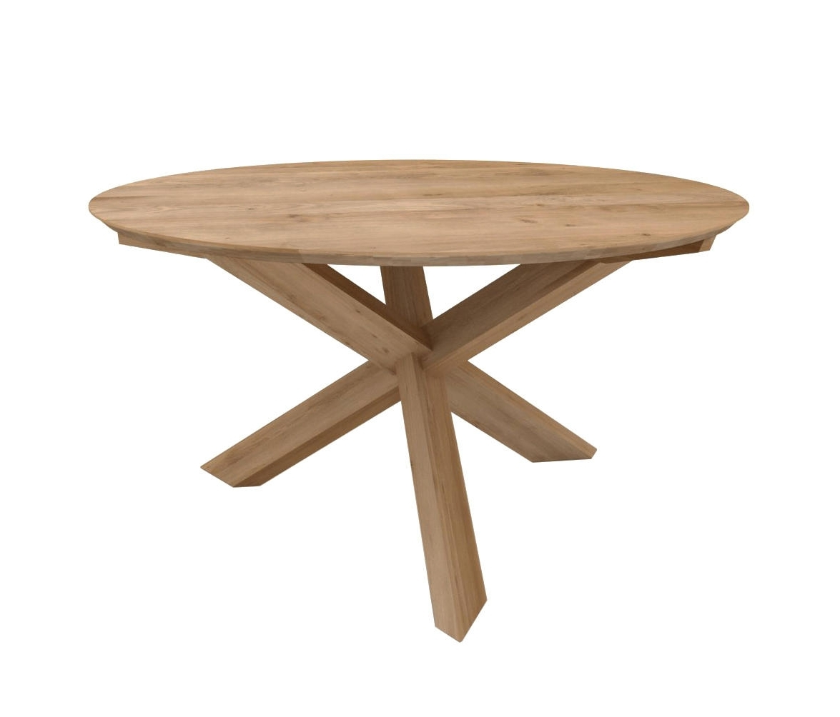 Circular Dining Tables Inside Well Known Oak Circle Dining Table – Dining Tables From Ethnicraft (View 7 of 25)