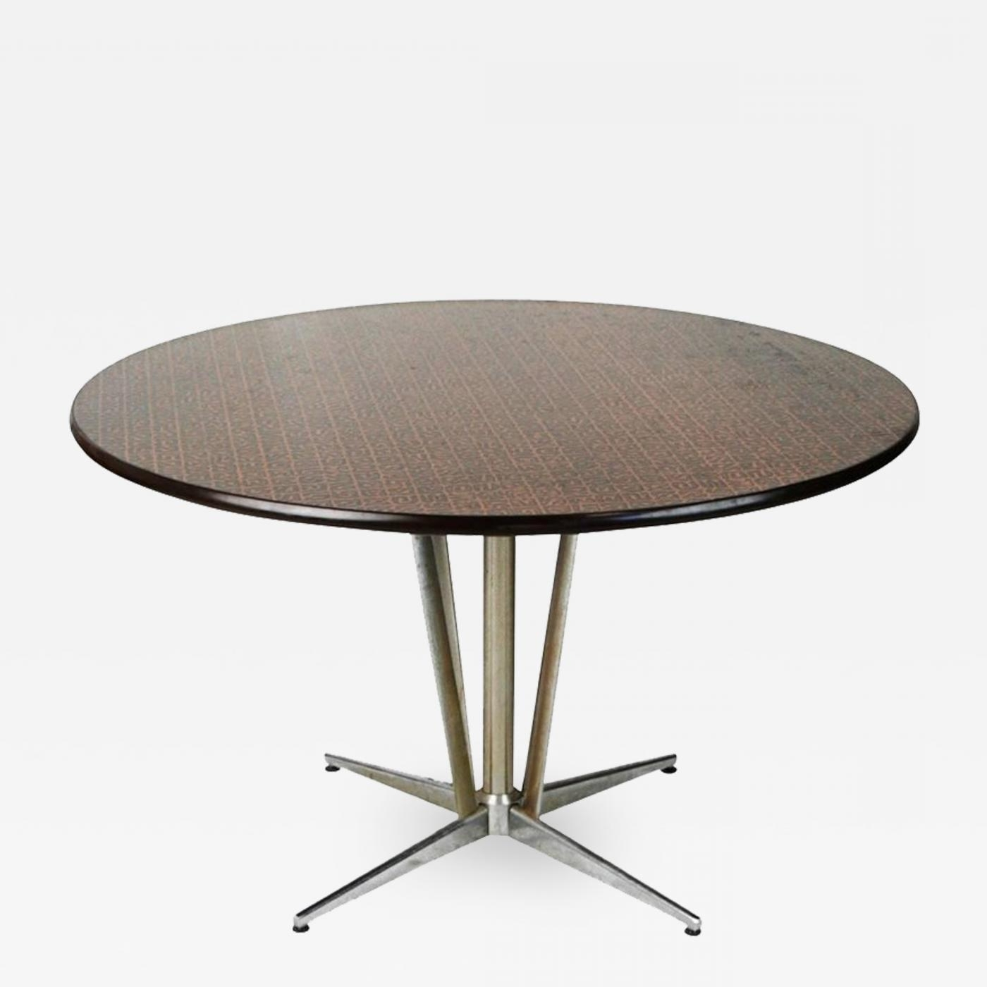 Circular Dining Tables Within Popular Hand Hammered Copper Top Circular Dining Table, Circa  (View 9 of 25)