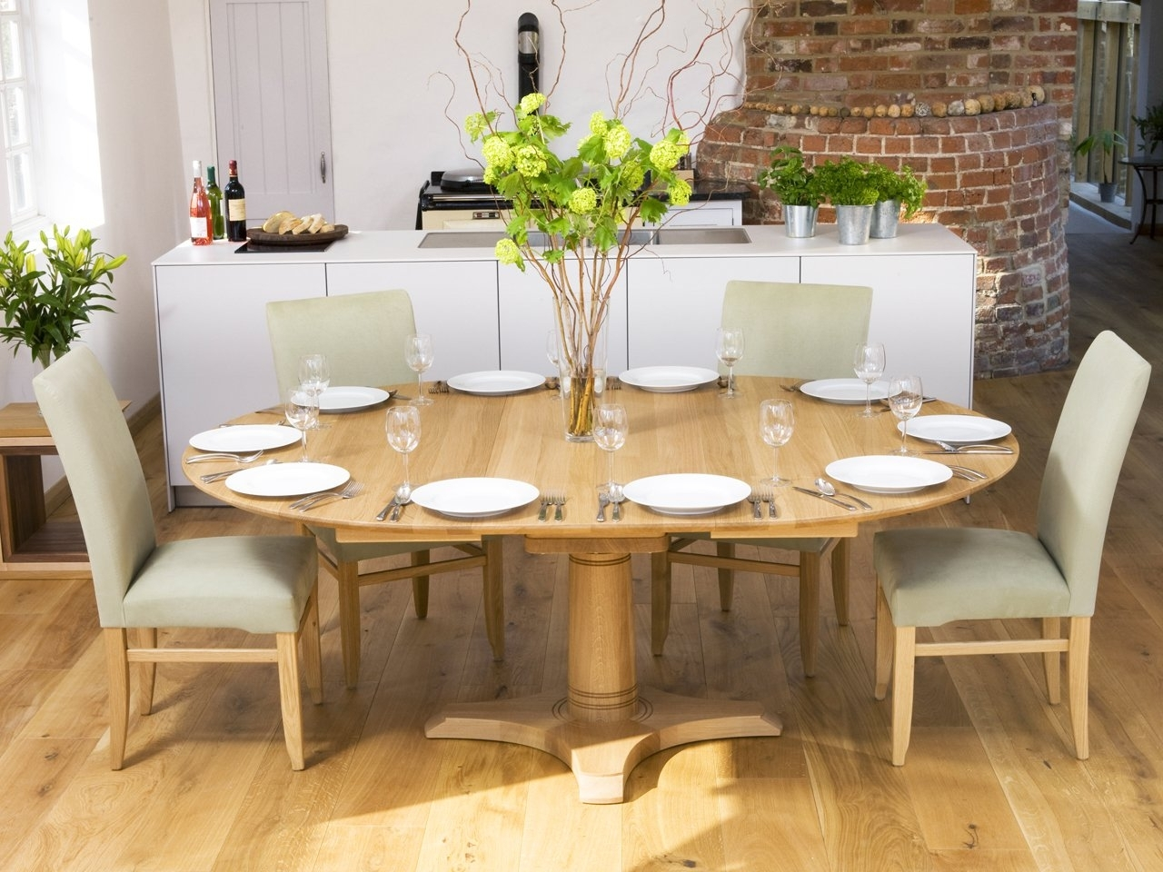 Circular Extending Dining Tables And Chairs Regarding Famous Our Round And Square Dining Tables (View 7 of 25)