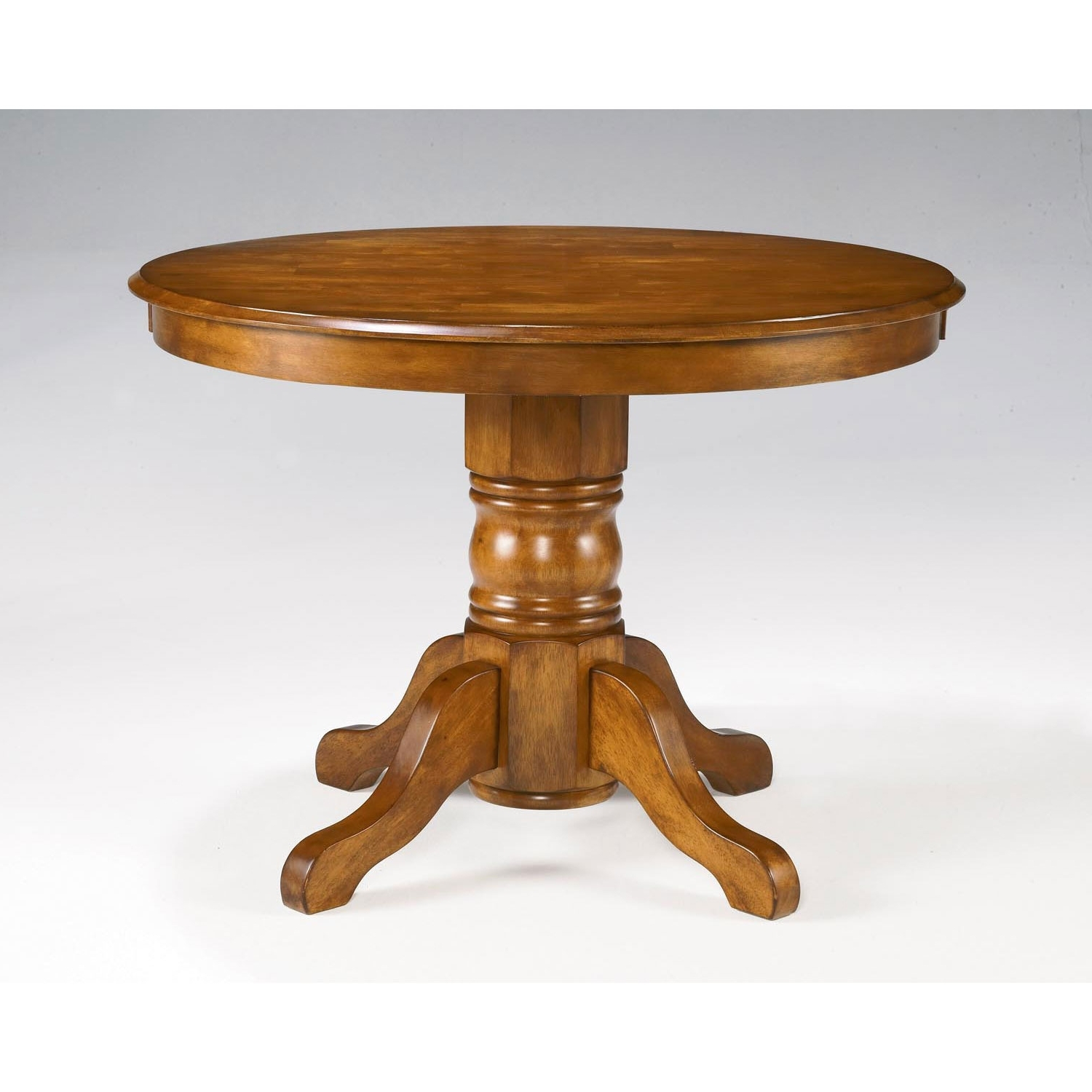 Circular Oak Dining Tables Throughout Most Current Home Styles Furniture Cottage Oak Round Pedestal Dining Table  (View 4 of 25)