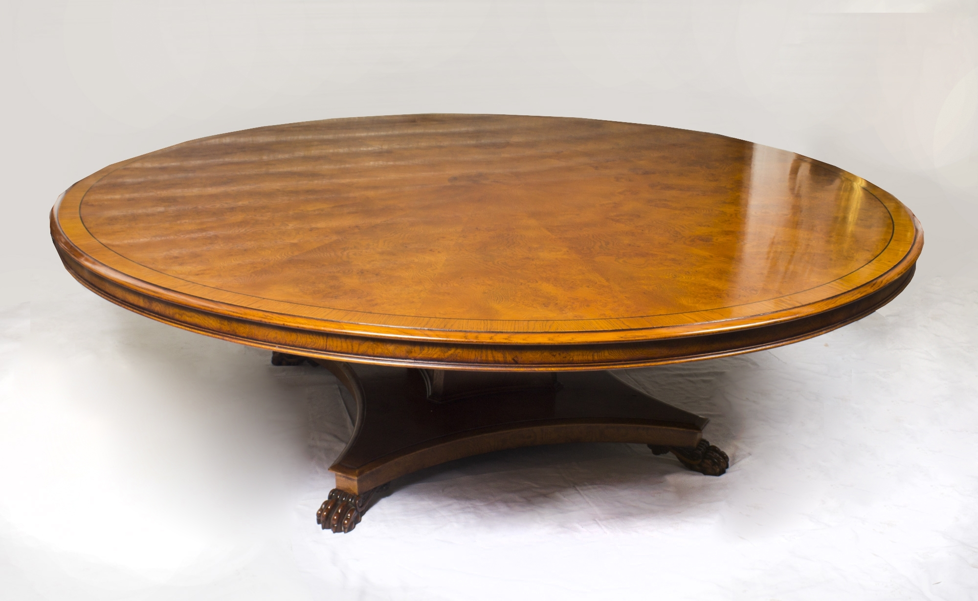Circular Oak Dining Tables With Most Up To Date Vintage Regency Style 8Ft Round Pollard Oak Dining Table 20Thc (Gallery 24 of 25)