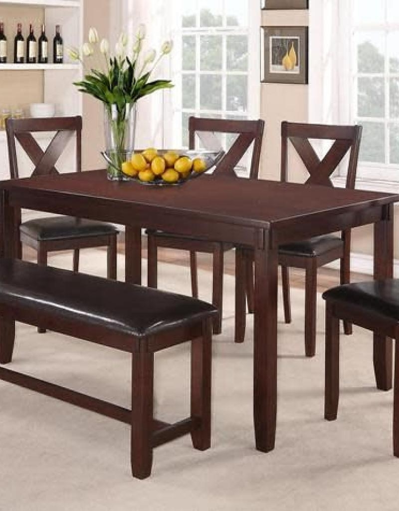 Clara Dining Table Set W/ 4 Chairs (Espresso) – Bargain Box And Bunks Pertaining To 2018 Dining Table Sets (View 3 of 25)