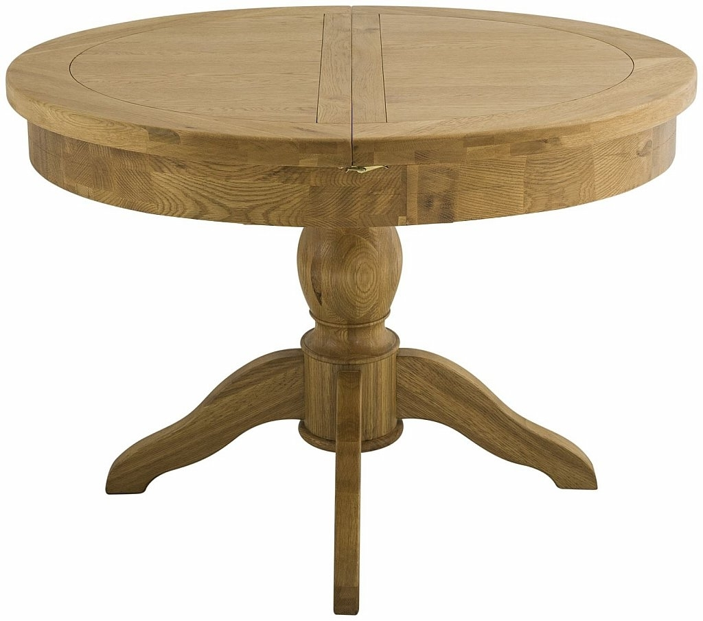 Classic Furniture – Portland Grand Oak Extending Round Dining Table Within Latest Extendable Round Dining Tables (View 6 of 25)