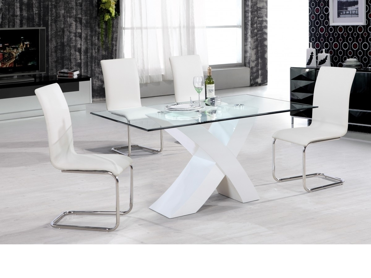 Featured Photo of Clear Glass Dining Tables And Chairs