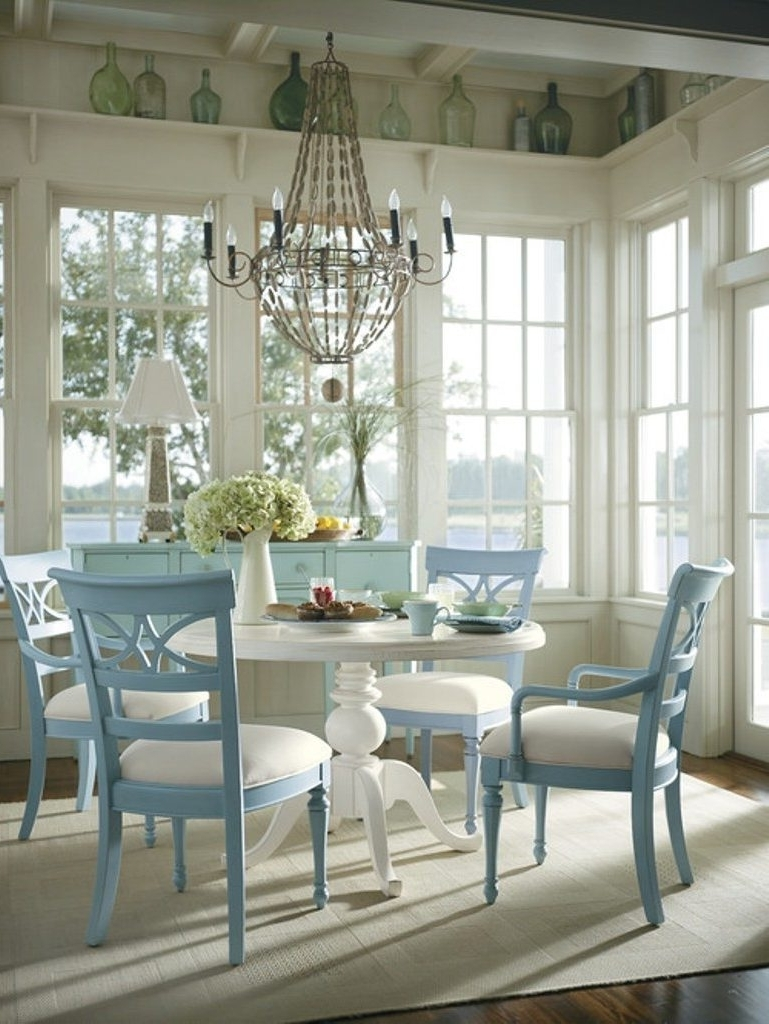 Clear Plastic Dining Tables In Current Shabby Chic Dining Table Diy White Floor Tile White Clear Glass (View 24 of 25)
