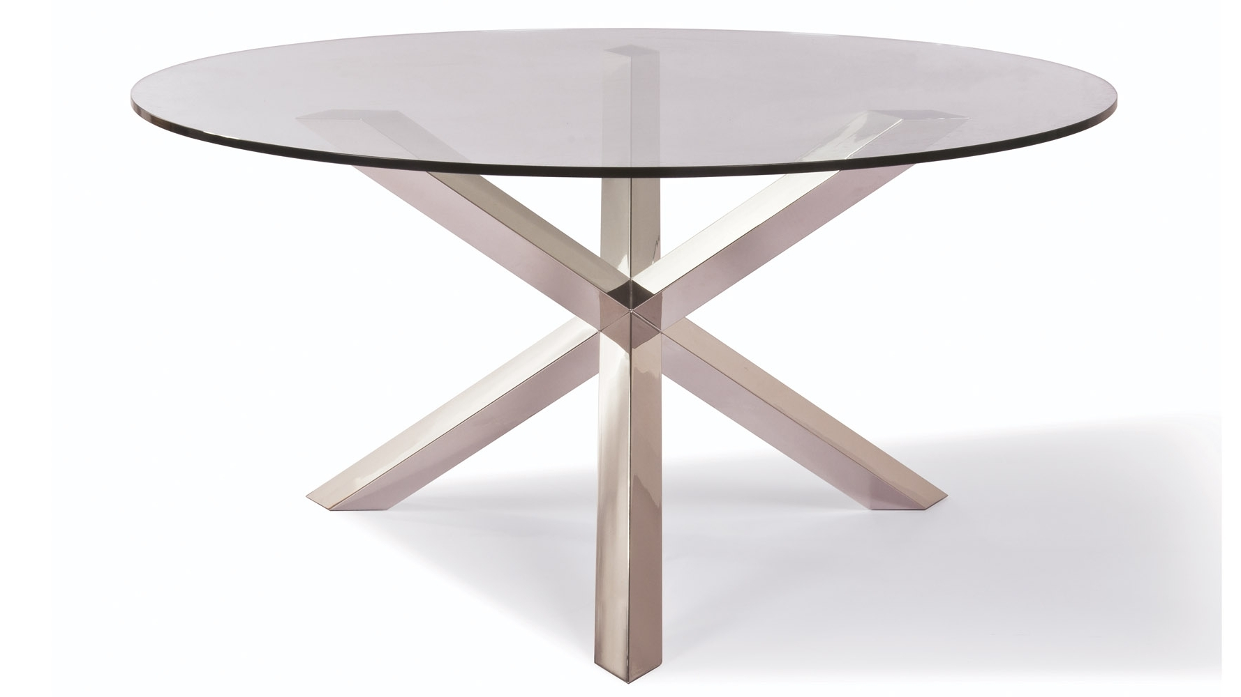 Clear Tempered Glass And Stainless Steel Columbus Dining Table Within Current Glass And Stainless Steel Dining Tables (View 24 of 25)