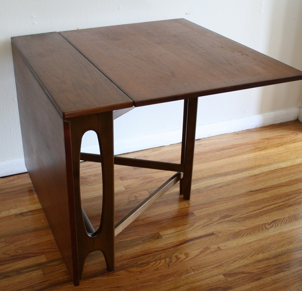 Clever Folding Dining Table To Save More Space Of Small Room (Gallery 12 of 25)
