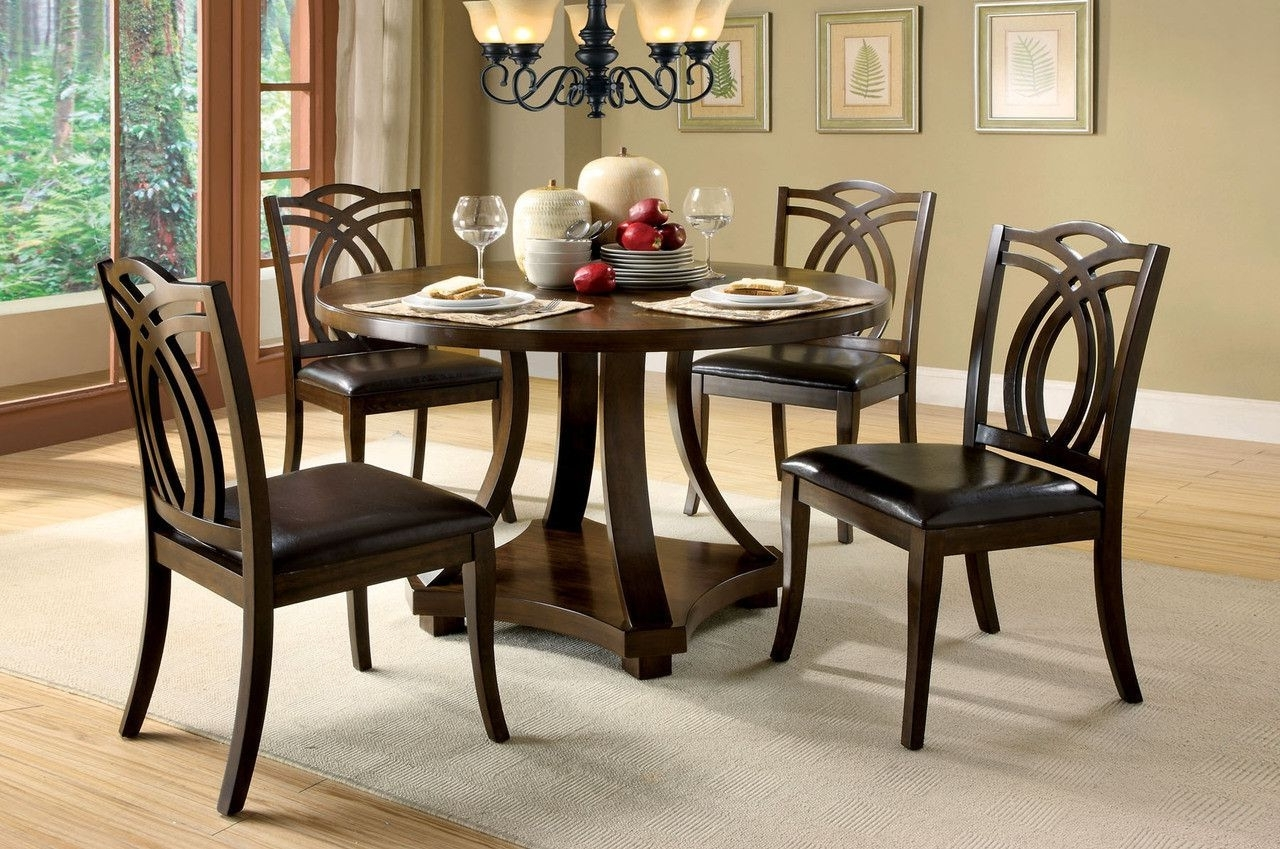Cm3160Rt Dining Table With 4 Chairs 5Pc (View 5 of 25)