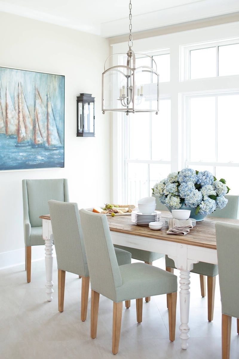 Coastal Dining Tables Pertaining To 2017 34 Beach And Coastal Decorating Ideas You'll Adore (View 6 of 25)