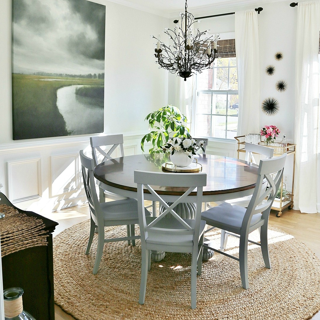Coastal Dining Tables Within Current Coastal Dining Room Makeover – Sand And Sisal (View 7 of 25)