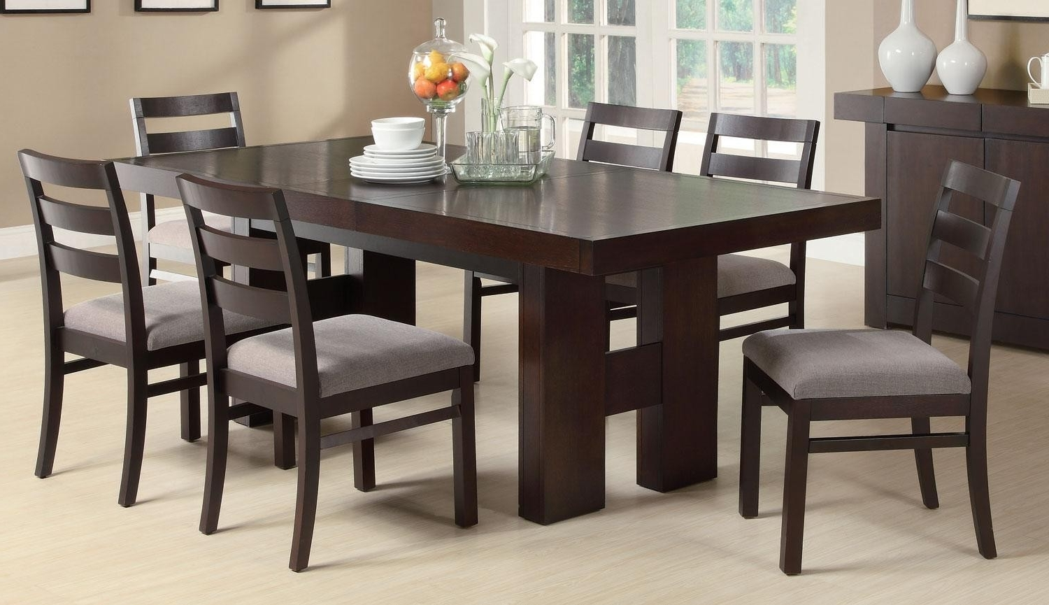 Coaster Dabny Cappuccino Rectangular Dining Room Set – Dabny Throughout Well Liked Rectangular Dining Tables Sets (View 3 of 25)