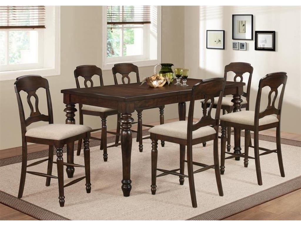 """Coaster Hamilton 106358 77.50""""l Counter Height Tobacco Dining Table Set With Regard To Fashionable Hamilton Dining Tables (Gallery 22 of 25)"""