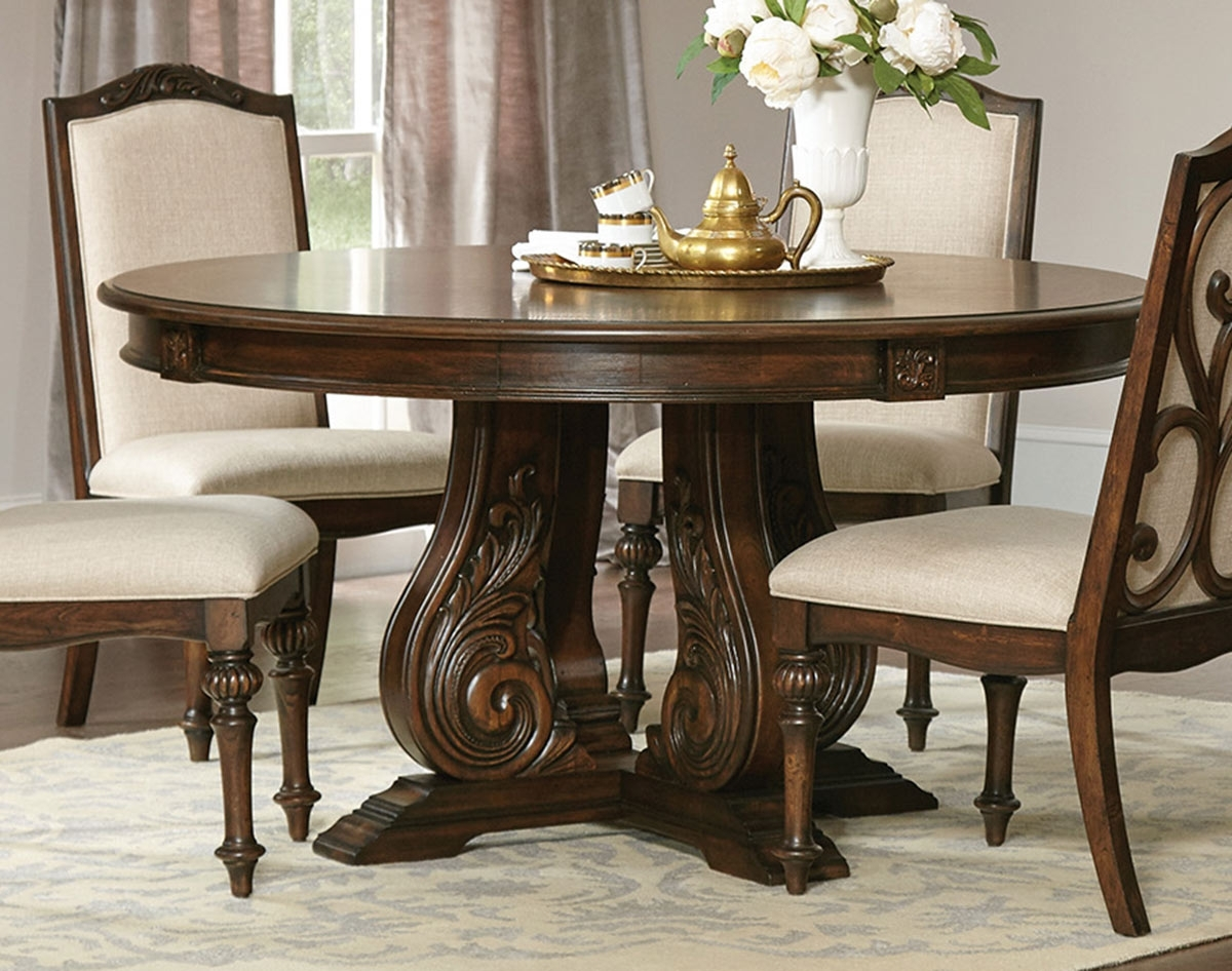 Coaster Ilana Round Dining Table – Antique Java 122250 At Homelement For Widely Used Java Dining Tables (View 13 of 25)