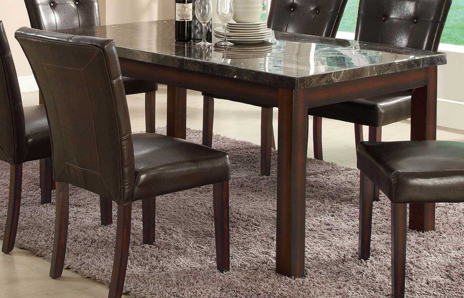 Coaster Milton Rectangular Dining Table – Dark – Cappuccino 103770 Pertaining To Most Up To Date Milton Dining Tables (View 16 of 25)