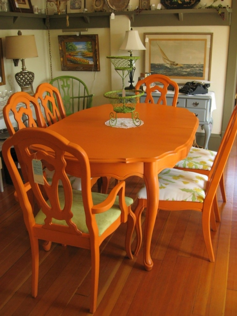 Colorful Painted Dining Table Inspiration Inside Favorite Painted Dining Tables (View 4 of 25)