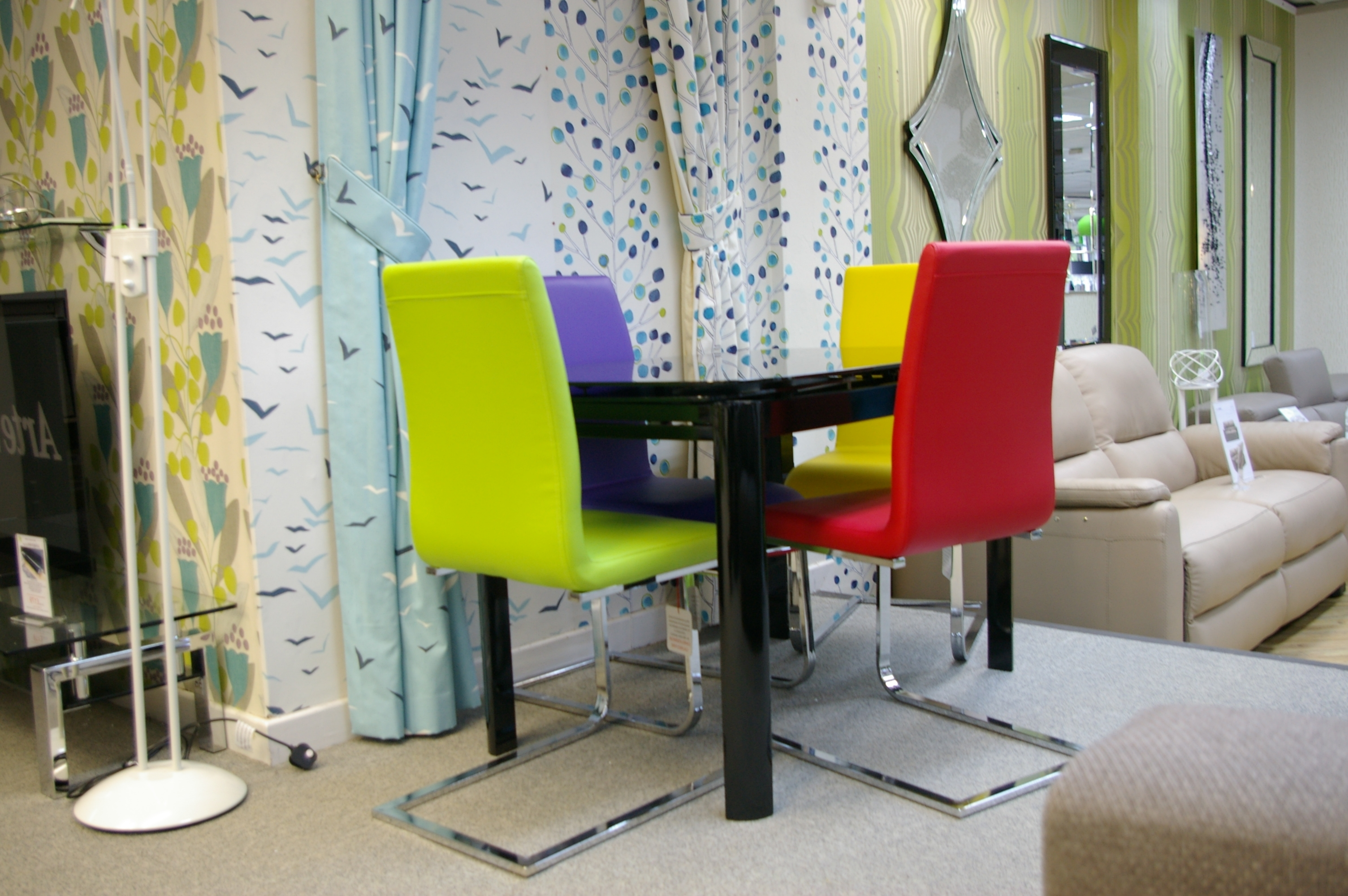 Colourful Dining Tables And Chairs Pertaining To Well Known A Colourful Furniture Shop In North Wales (View 4 of 25)