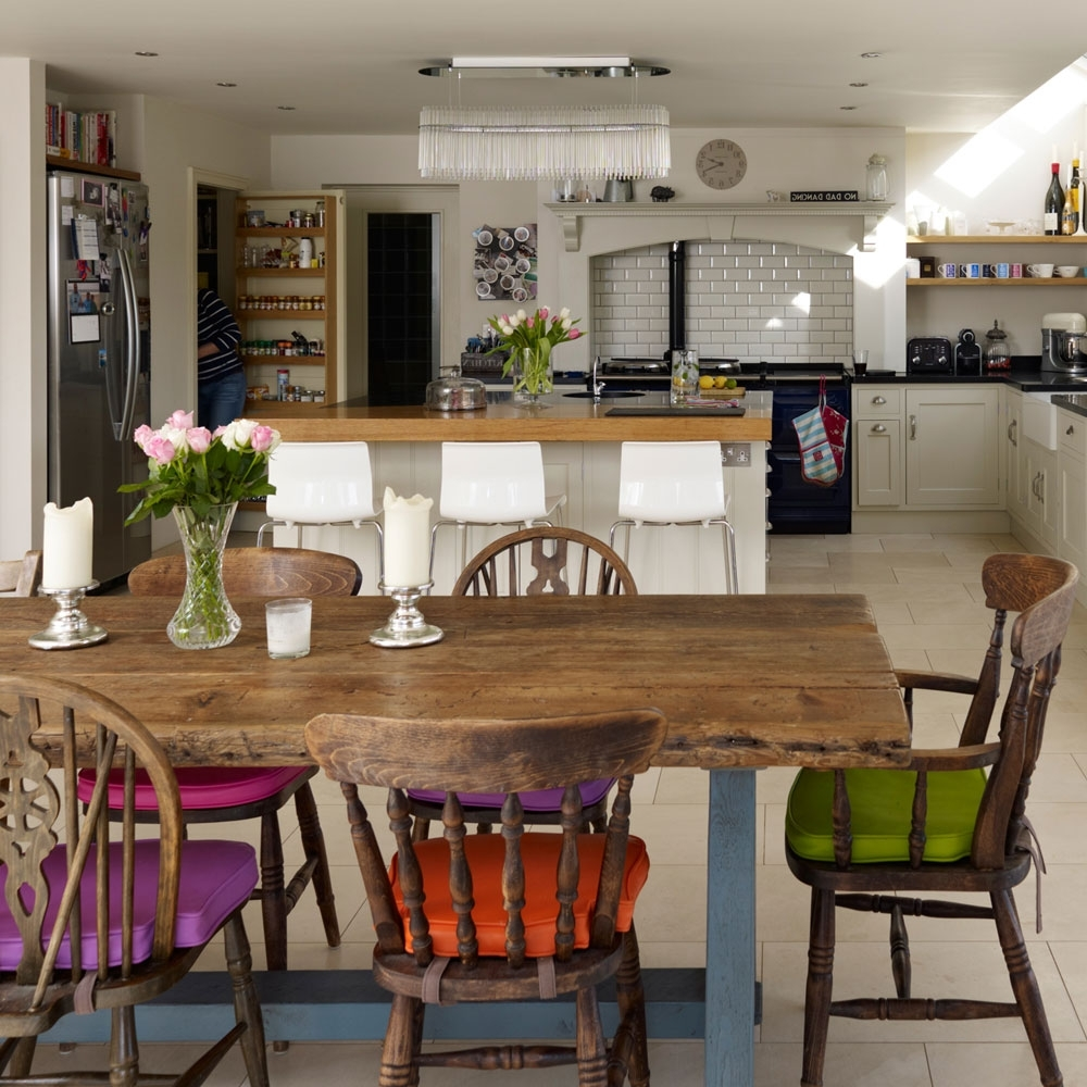 Colourful Dining Tables And Chairs Throughout Preferred Dining Room Colour Schemes – Colourful Dining Room Ideas (View 5 of 25)