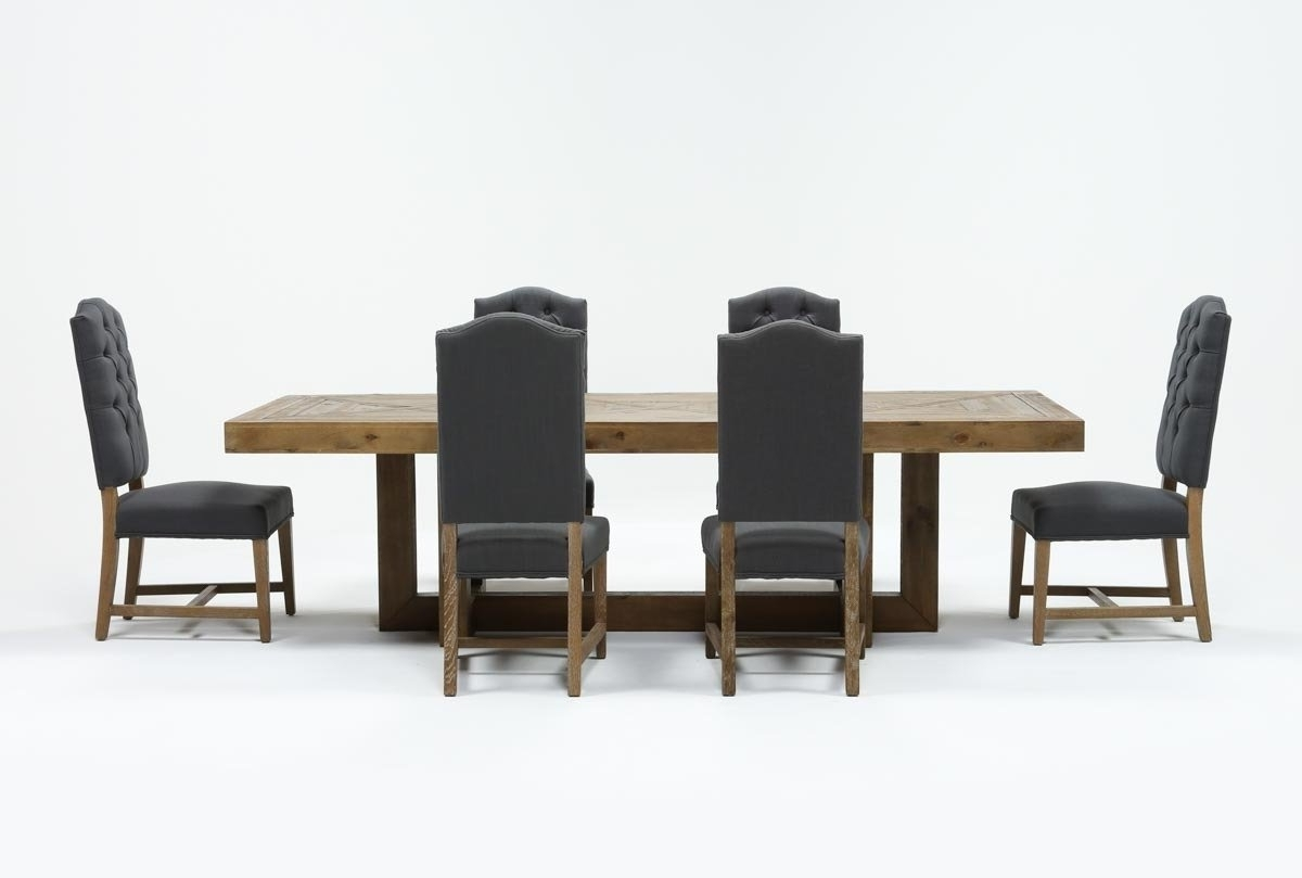 Combs 5 Piece Dining Sets With  Mindy Slipcovered Chairs For Favorite Palazzo 7 Piece Rectangle Dining Set With Joss Side Chairs (Gallery 16 of 25)
