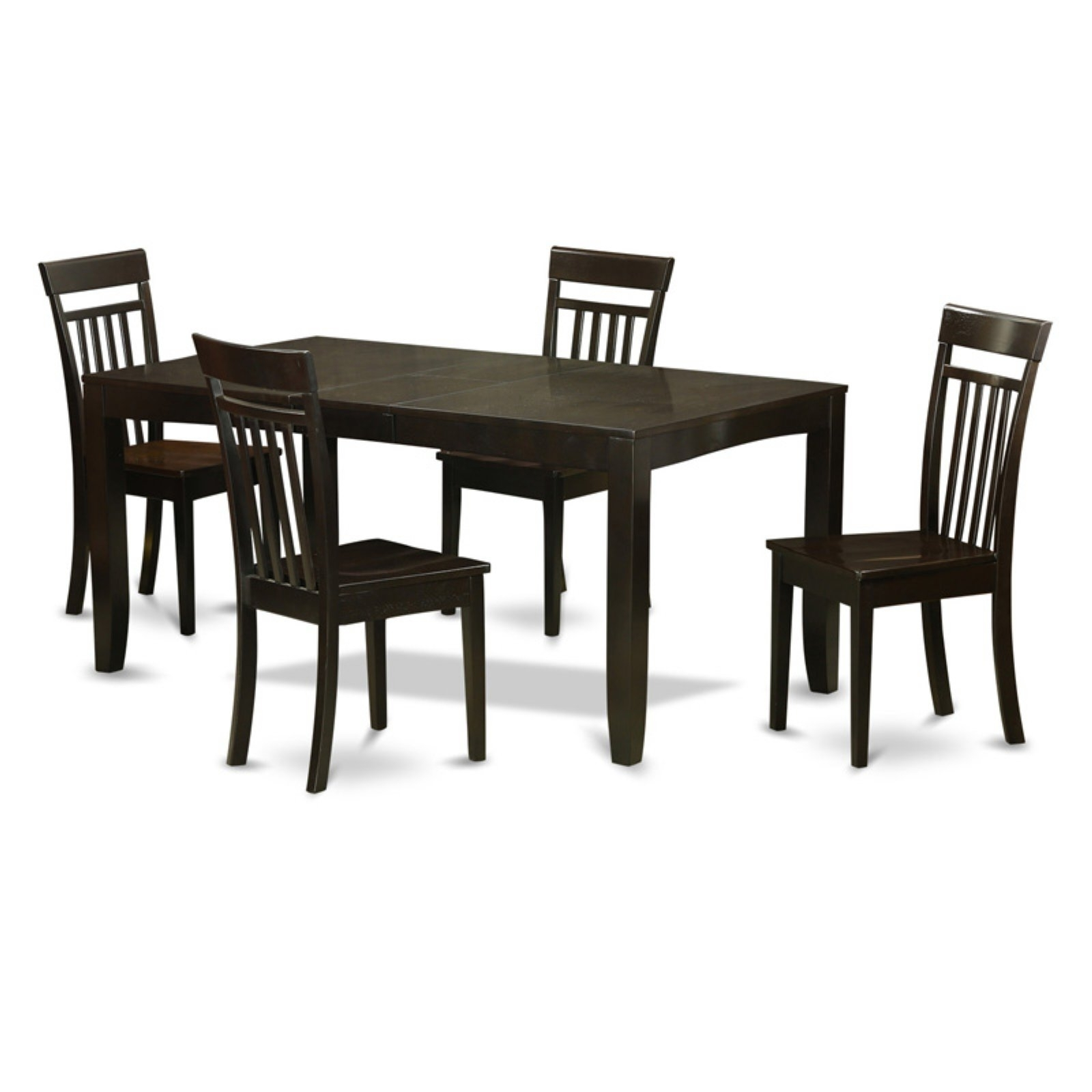 Combs Extension Dining Tables With Well Liked East West Furniture Lynfield 5 Piece Extension Dining Table Set With (View 7 of 25)