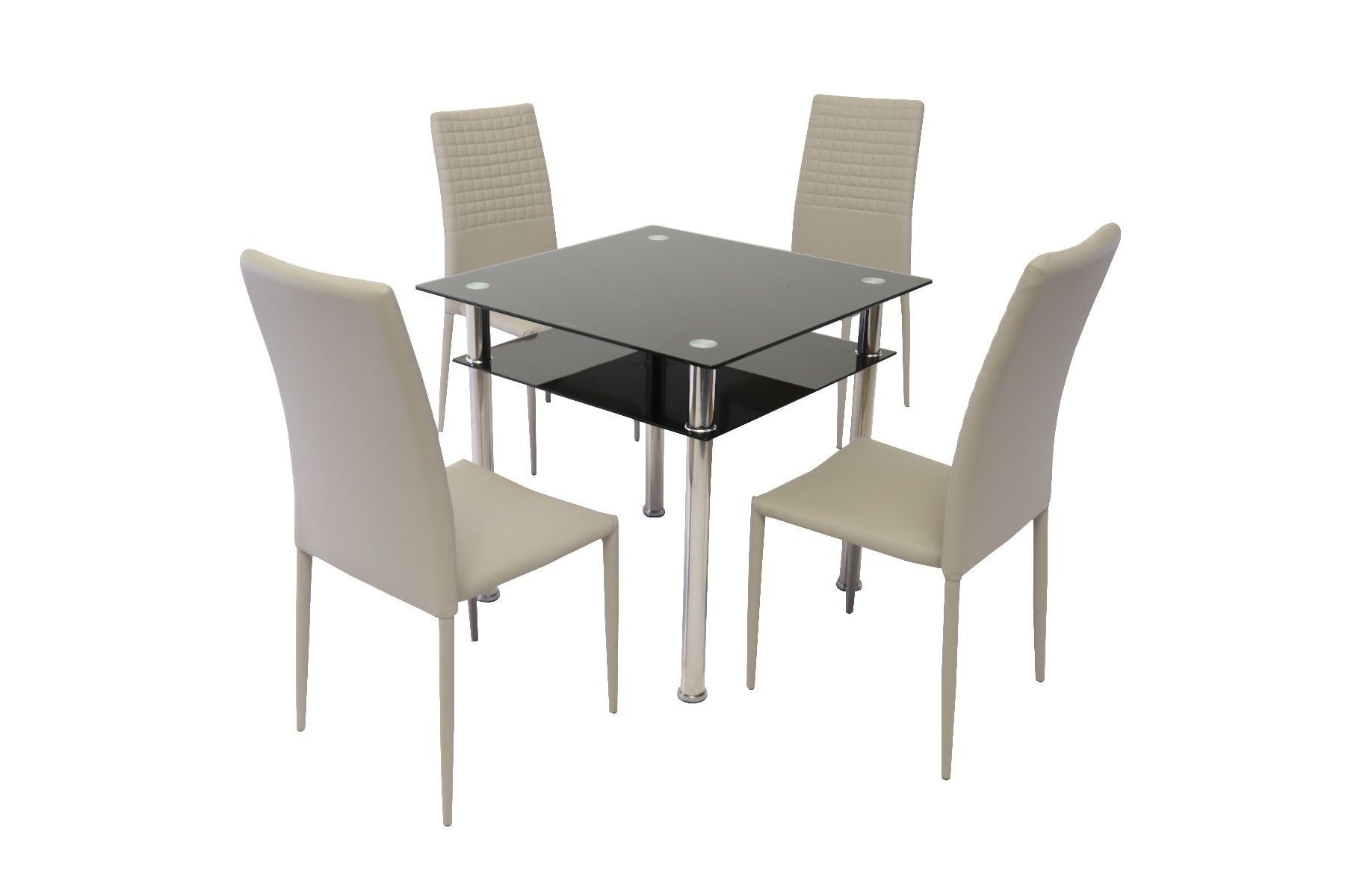 Como Dining Tables Inside Most Popular Como Black Glass Dining Table With Cuba Dining Chair (View 8 of 25)