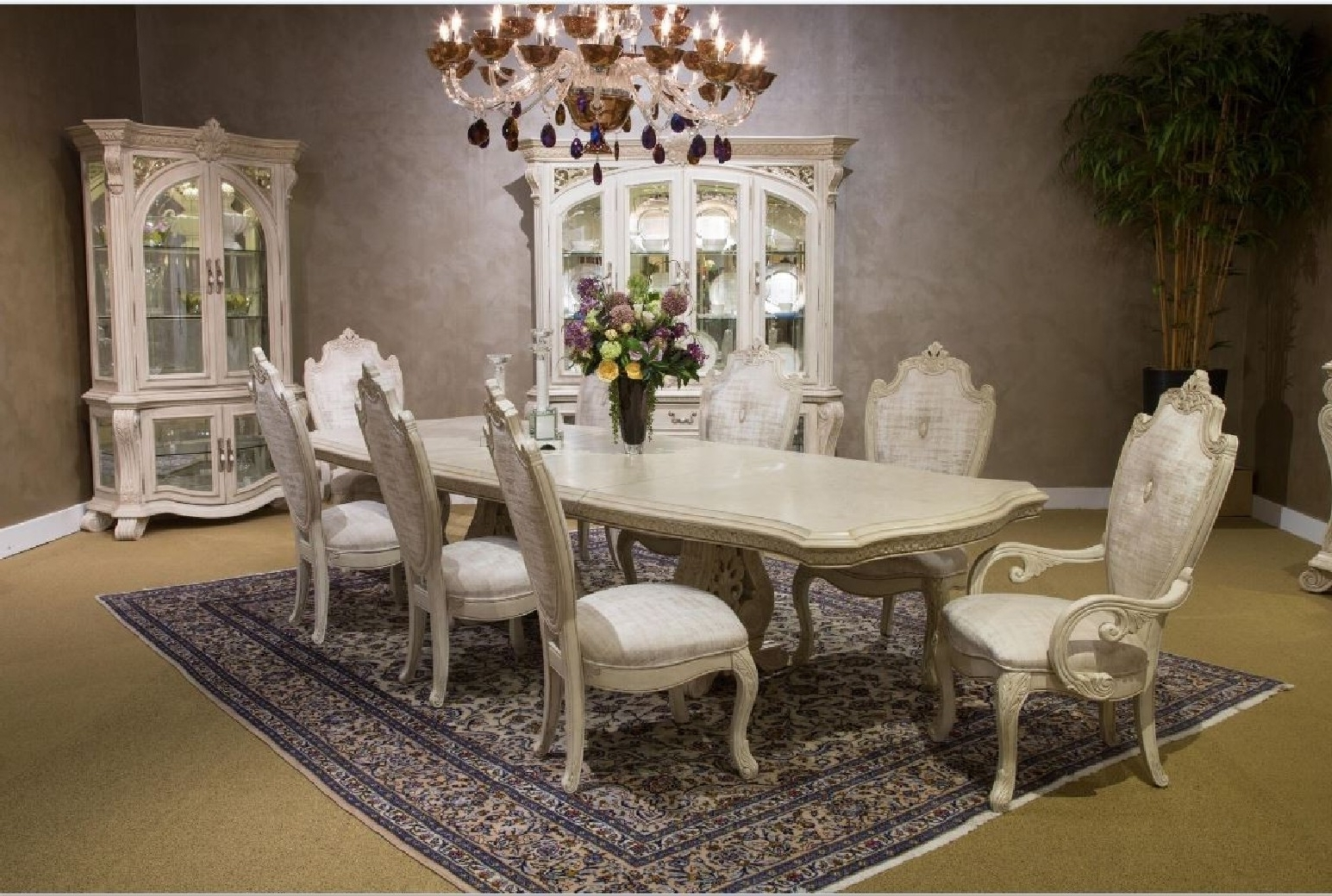 Como Dining Tables Intended For Most Recently Released Aico Villa Di Como Dining Room Collectionmichael Amini Moonlight (View 7 of 25)