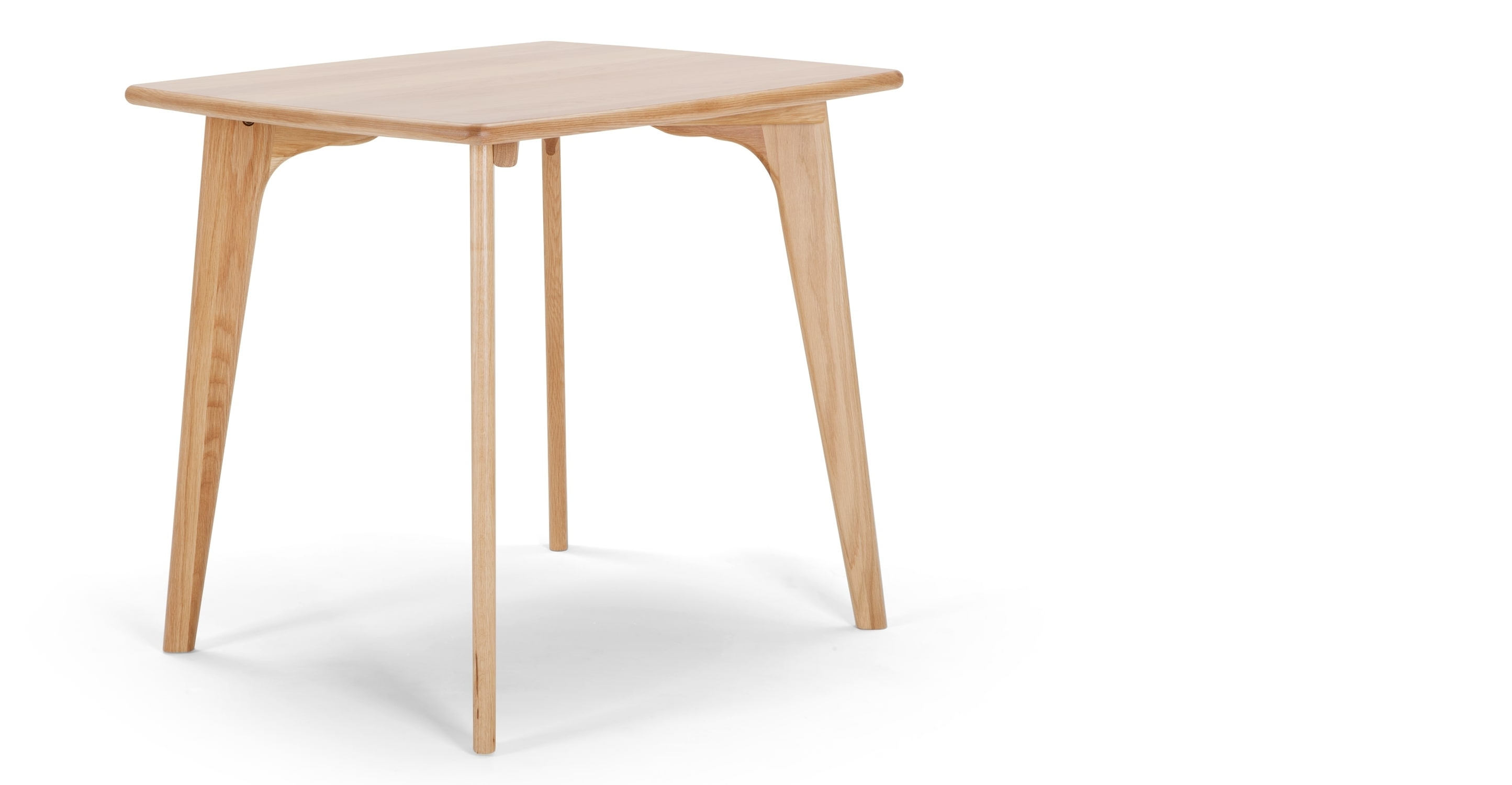 Compact Dining Tables Inside Recent Fjord Compact Dining Table, Oak • Sofas Etc (View 8 of 25)