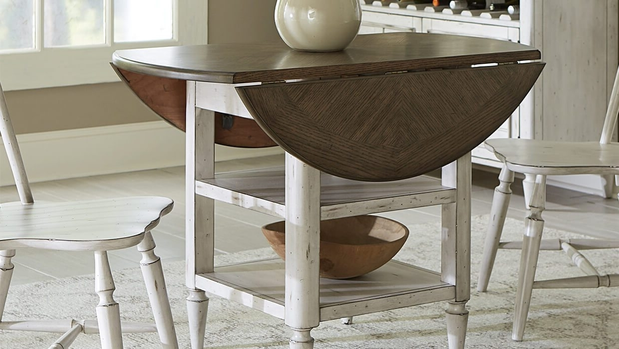 Compact Folding Dining Tables And Chairs In Well Liked Top 5 Drop Leaf Table Styles For Small Spaces – Overstock (View 10 of 25)