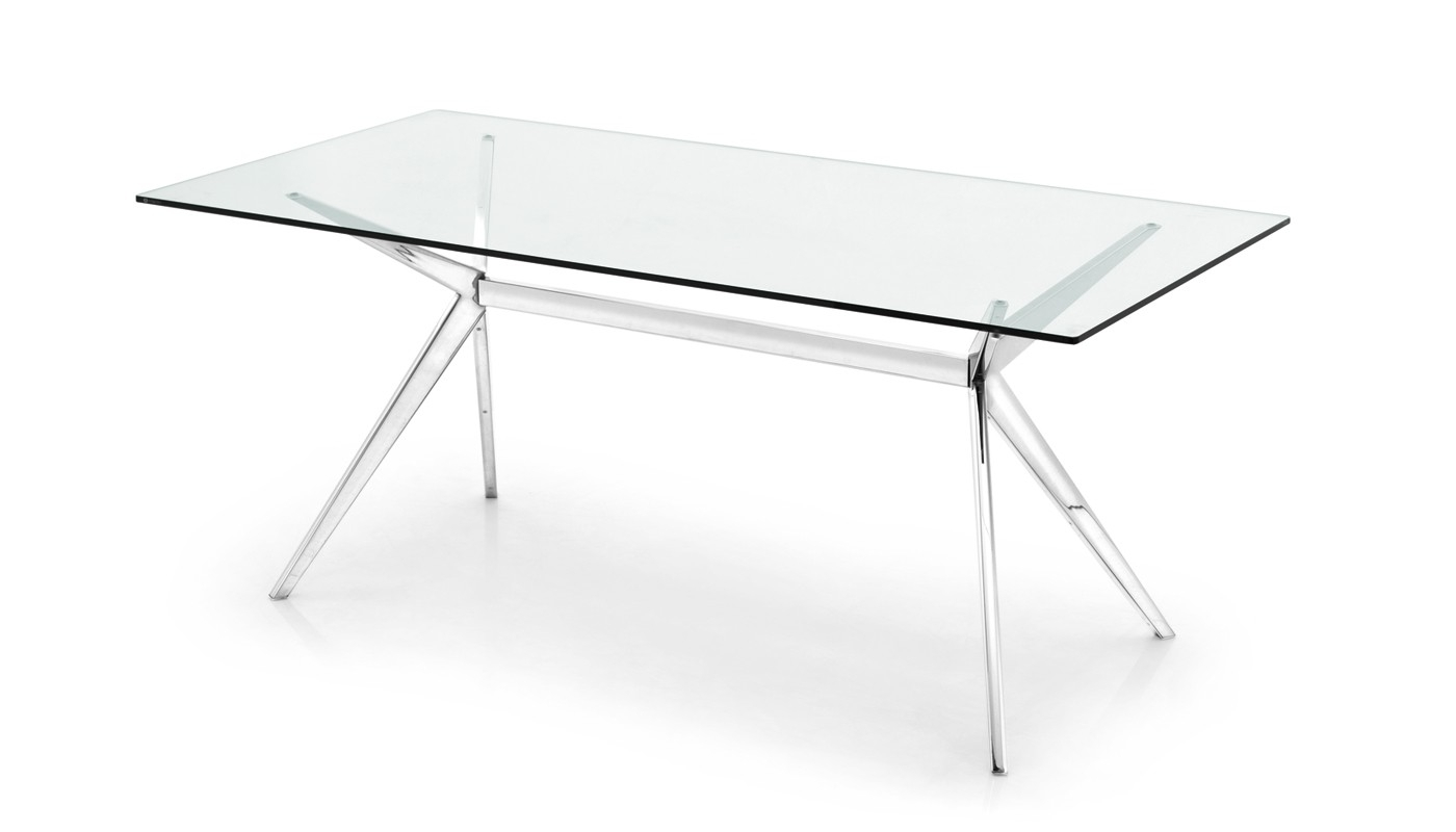 Connubiacalligaris Seven Dining Table Chrome & Glass With Latest Chrome Glass Dining Tables (Gallery 6 of 25)