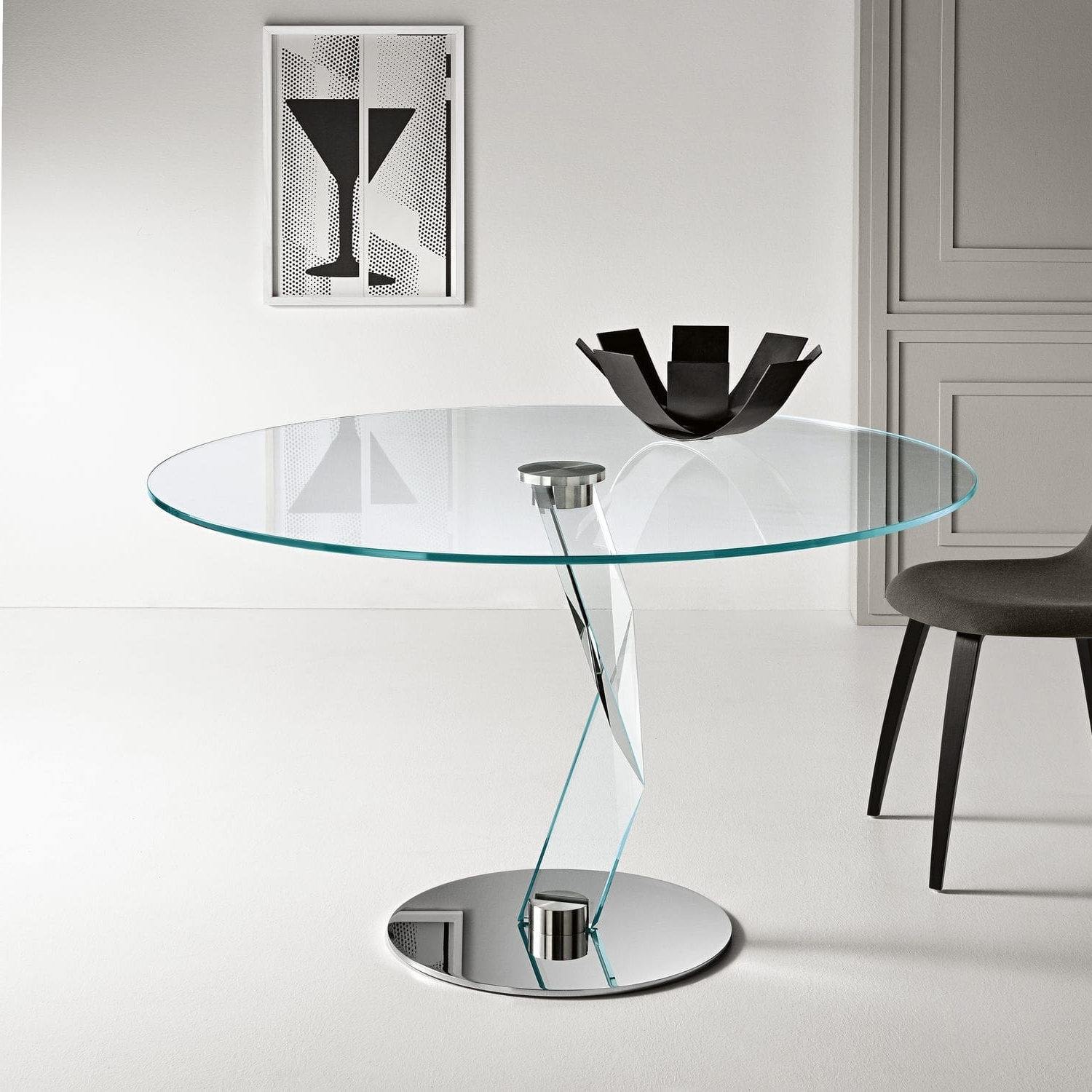 Contemporary Dining Table / Glass / Crystal / Metal – Bakkarat Alto In Favorite Crystal Dining Tables (View 16 of 25)